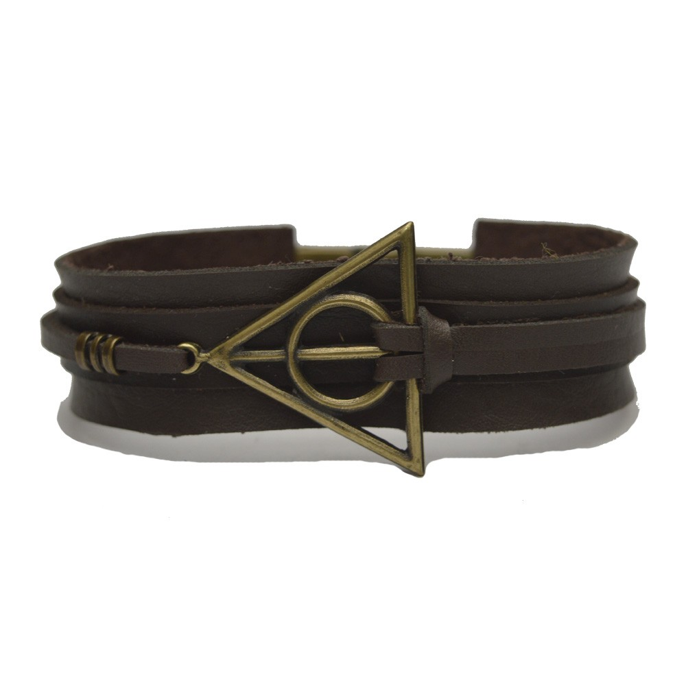 Pulseira Couro Masculina Harry Potter
