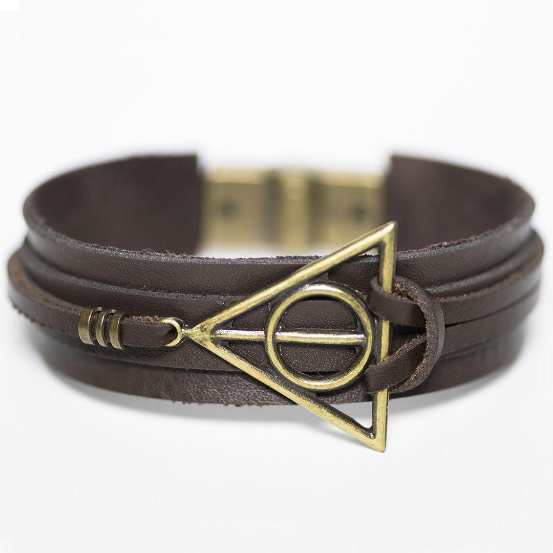 Pulseira Couro Masculina Harry Potter