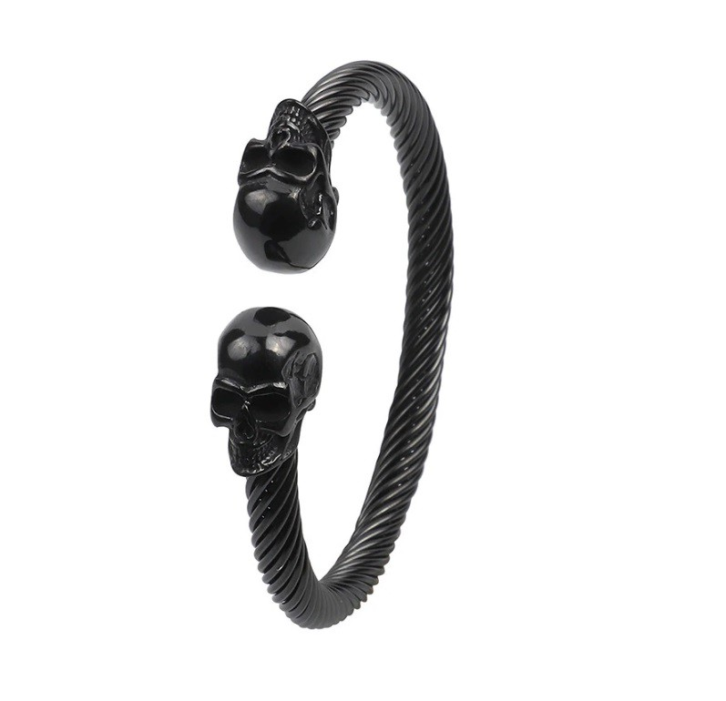 Pulseira Masculina Skull All Black