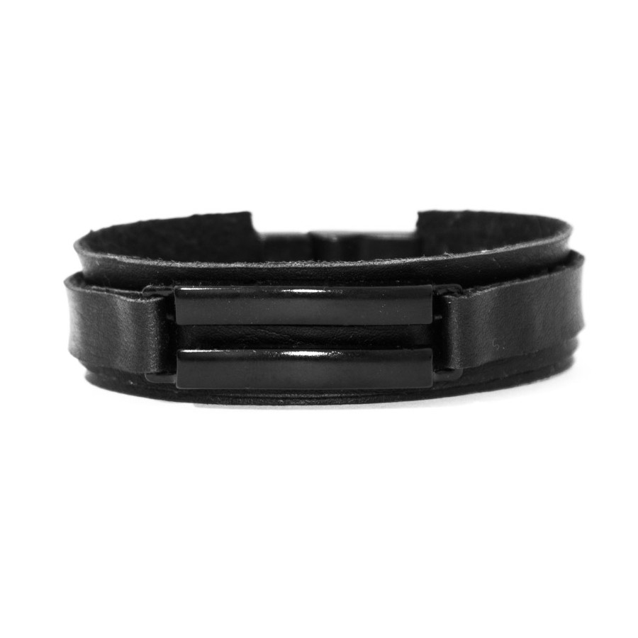 Pulseira Metal Duplo - Black Edition