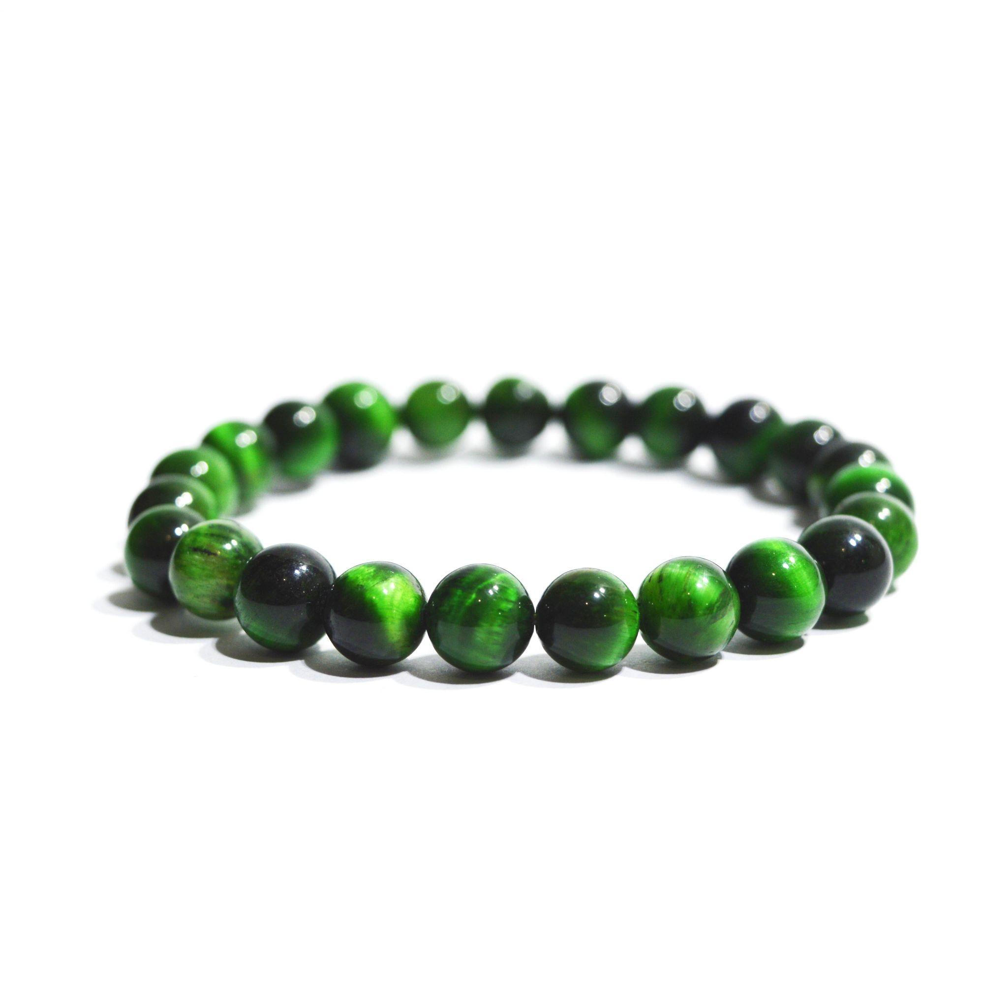 Pulseira Pedra Natural Olho de Tigre Verde