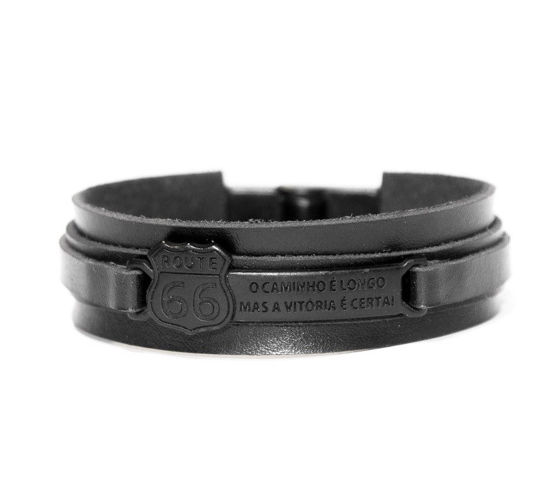 Pulseira Route 66 Harley Davidson - Black Edition