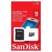 Cartão De Memória 16GB Sandisk