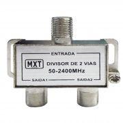 Divisor De Antena 1 X 2 5.100MHz Para Cabo Coaxial C/ 2 Unidades