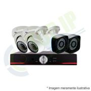 Kit CFTV 4 Câmeras (2 dome + 2 canhão) Anko + Dvr Stand Alone Jortan