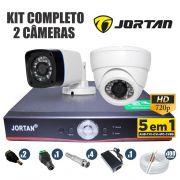 Kit CFTV Jortan Completo 2 Câmeras AHD 720p DVR 4 Canais