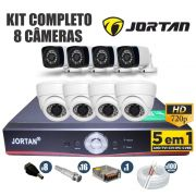 Kit CFTV Jortan Completo 8 Câmeras AHD 720p DVR 8 Canais