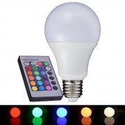 Lâmpada LED RGB 5W Colorida C/ Controle Remoto