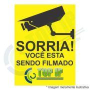 Placa De Advertência - Sorria Você Esta Sendo Filmado Top Ip