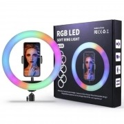Ring Light RGB Colorida 26 Centimetros Led + Tripé