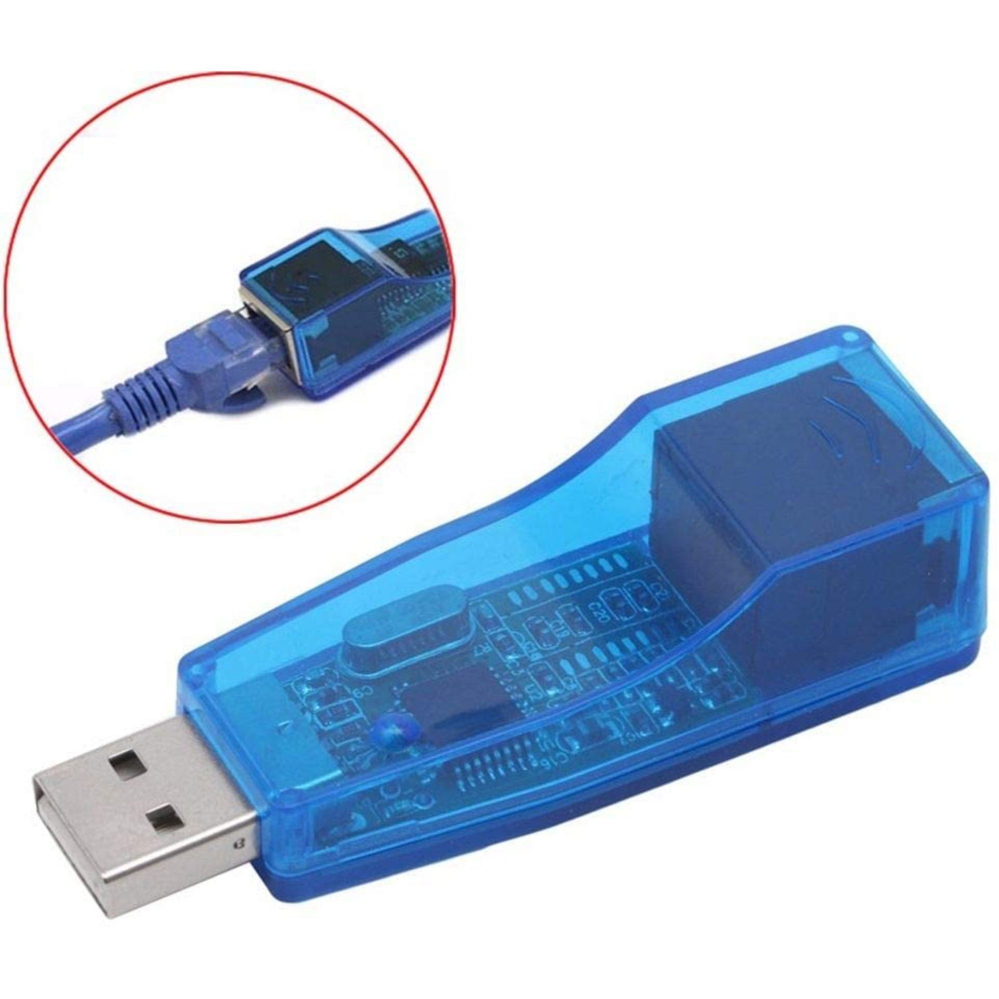 Adaptador De Rede USB Externa RJ45 Placa Lan Ethernet 10/100mbps