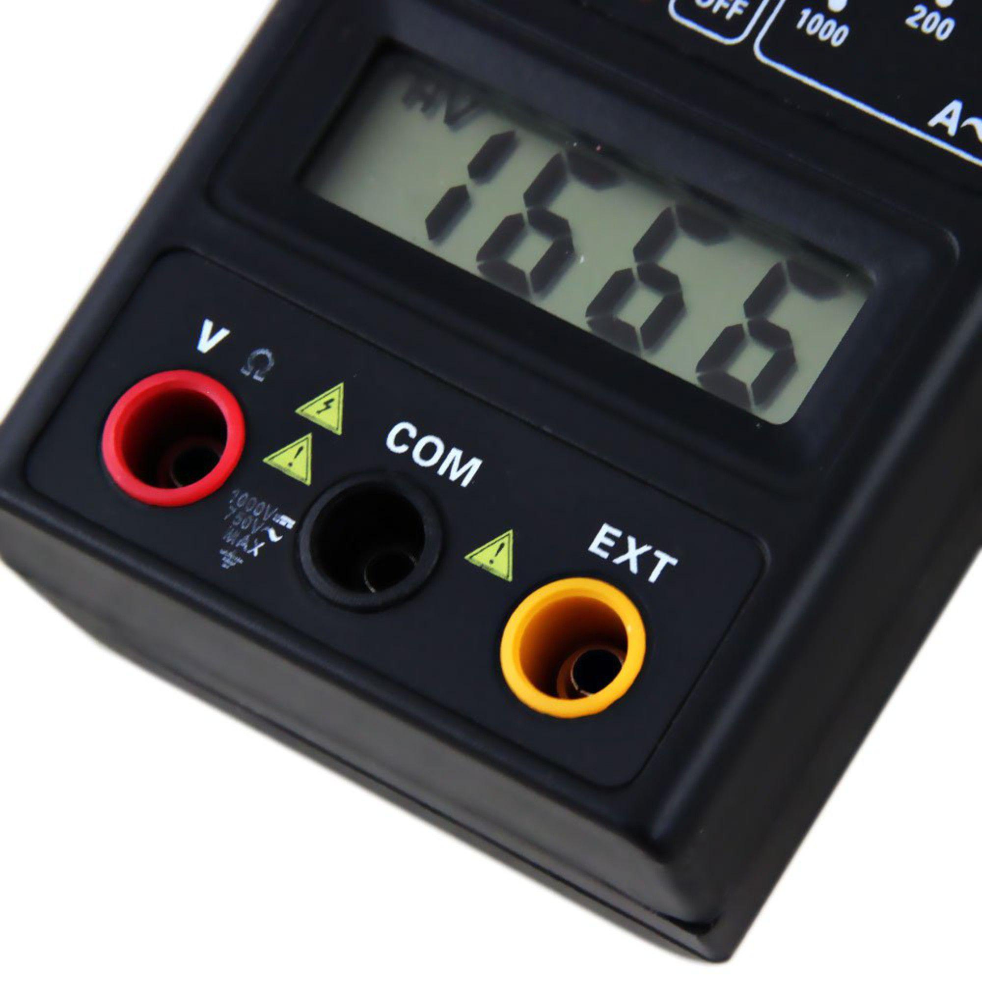 Alicate Amperímetro Digital Profissional 600v Cat. Il Com Bip