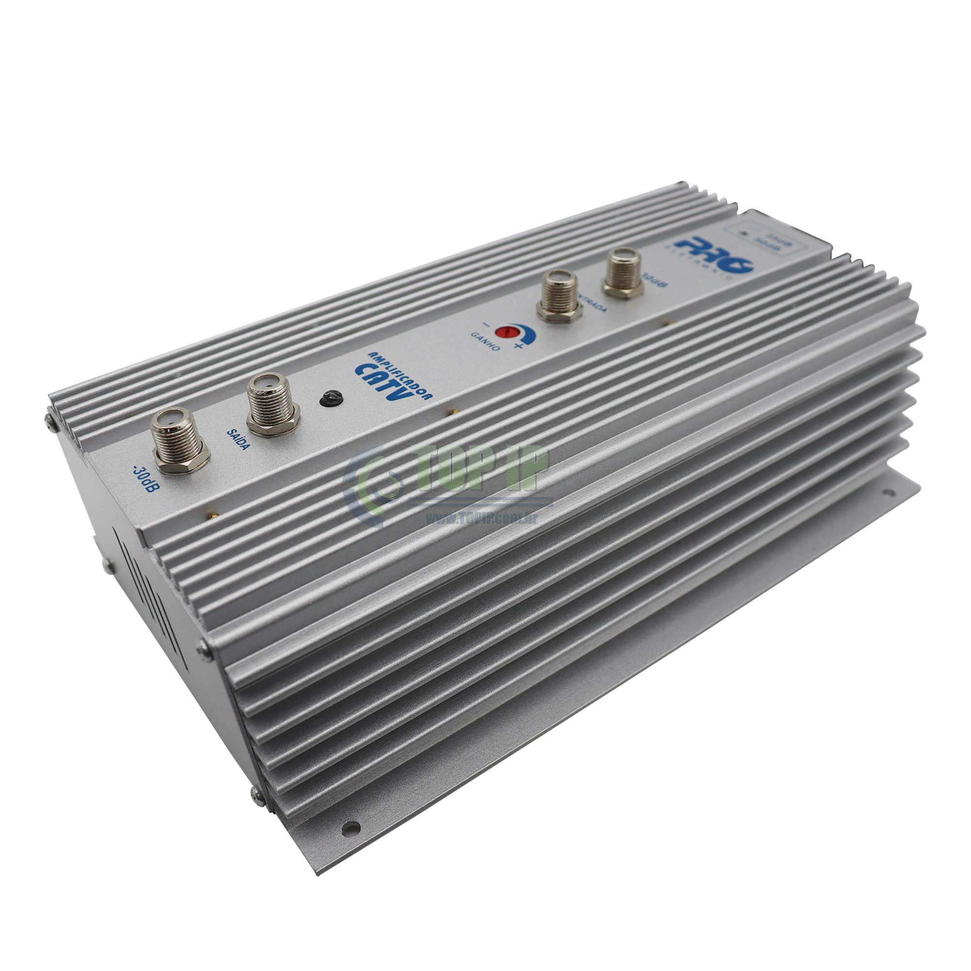 Amplificador De Potência VHF UHF 50DB PQAP-7500 Pro Eletronic
