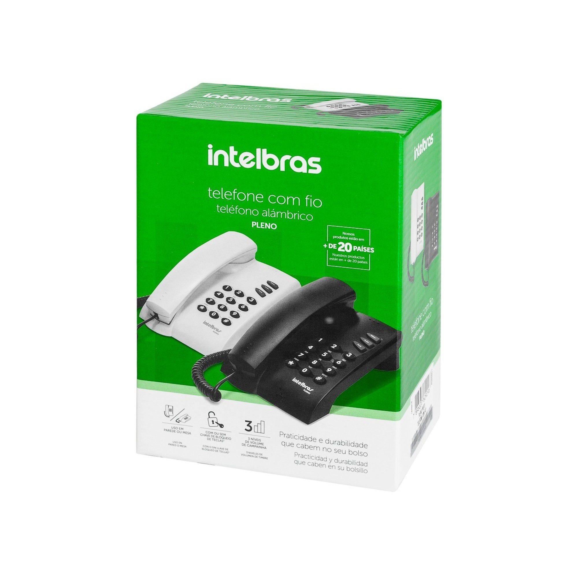 Aparelho Telefônico Fixo C/ Fio Intelbras Pleno Cinza-ártico