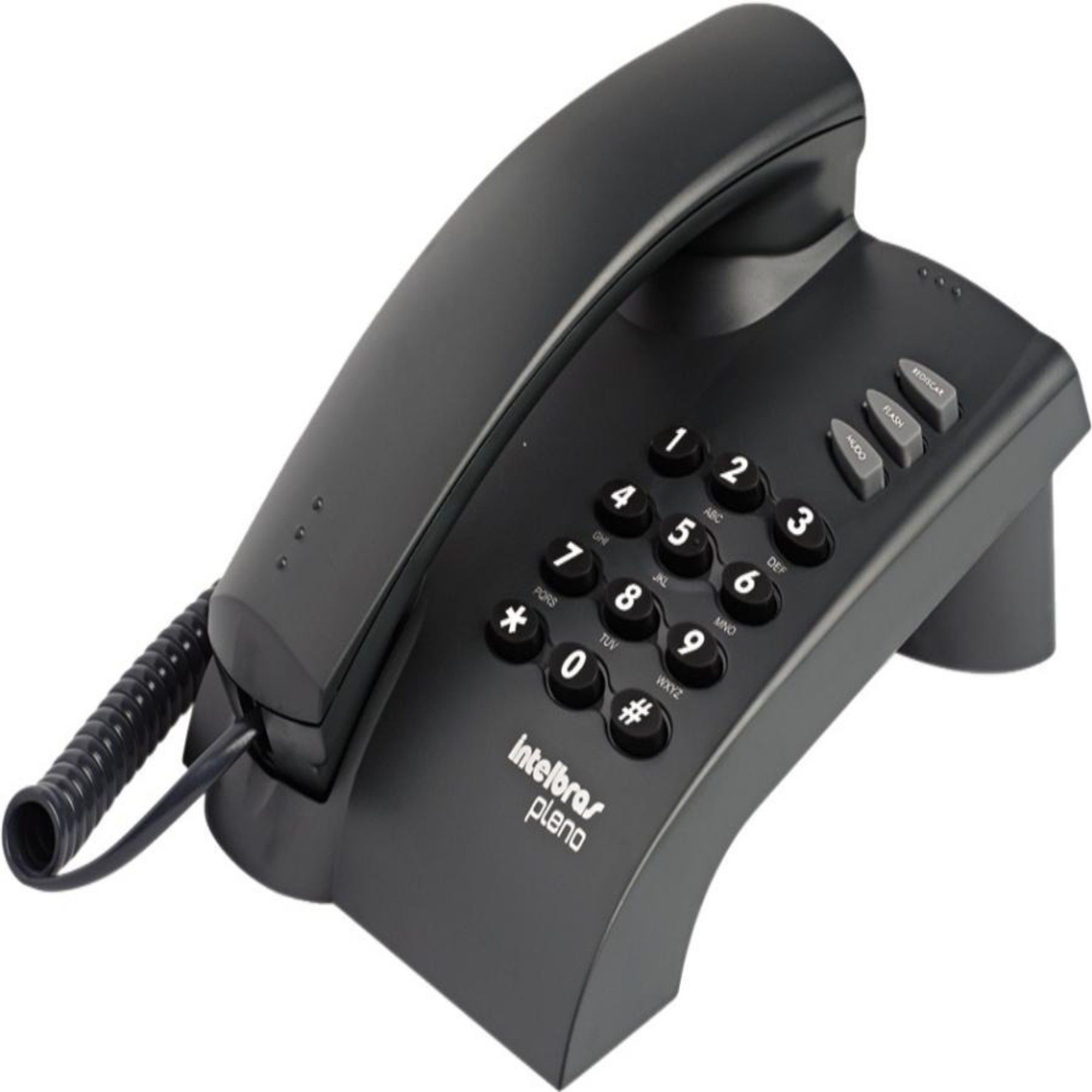 Aparelho Telefônico Fixo C/ Fio Intelbras Pleno Preto