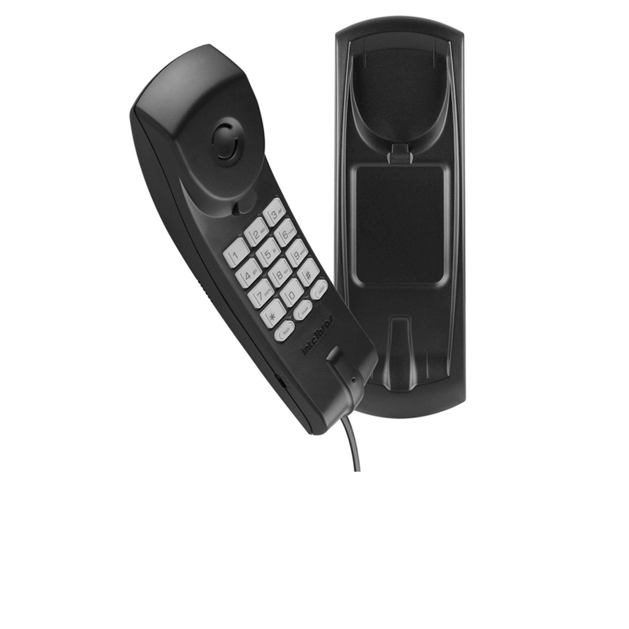 Aparelho Telefônico Fixo C/ Fio Intelbras TC20 Preto
