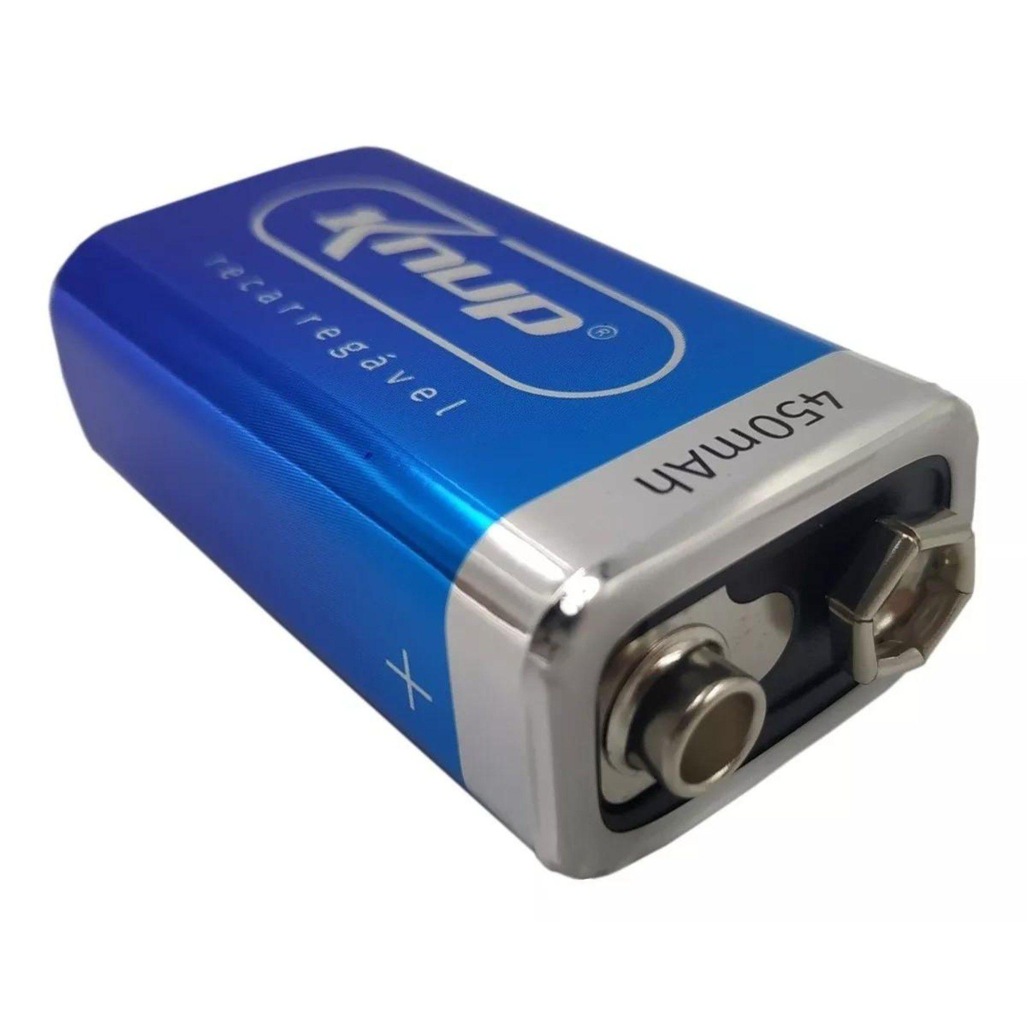 Bateria 9v recarregável 240ma