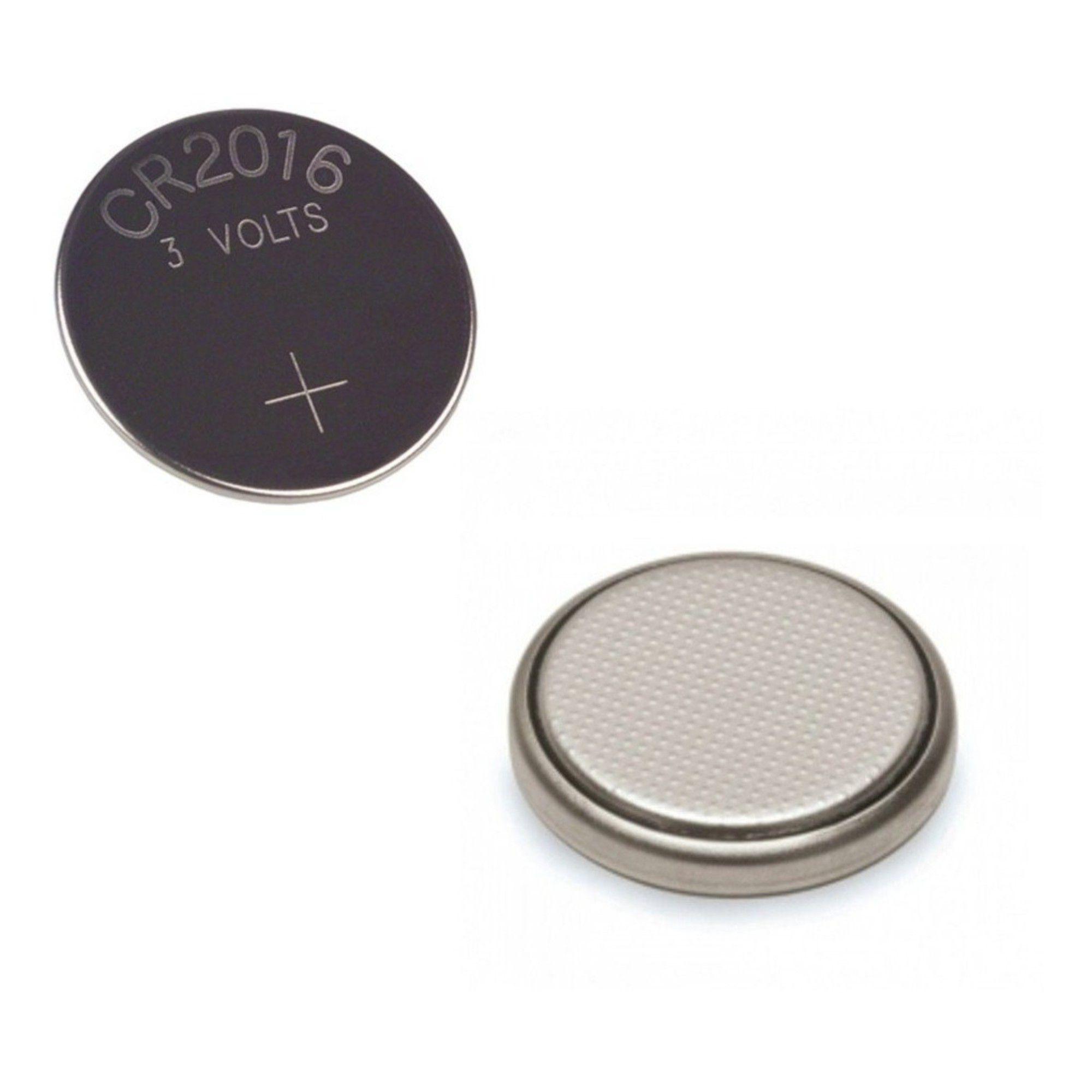 Bateria CR2016 P/ Controle Remoto e Placa Mãe C/ 2 Unidades