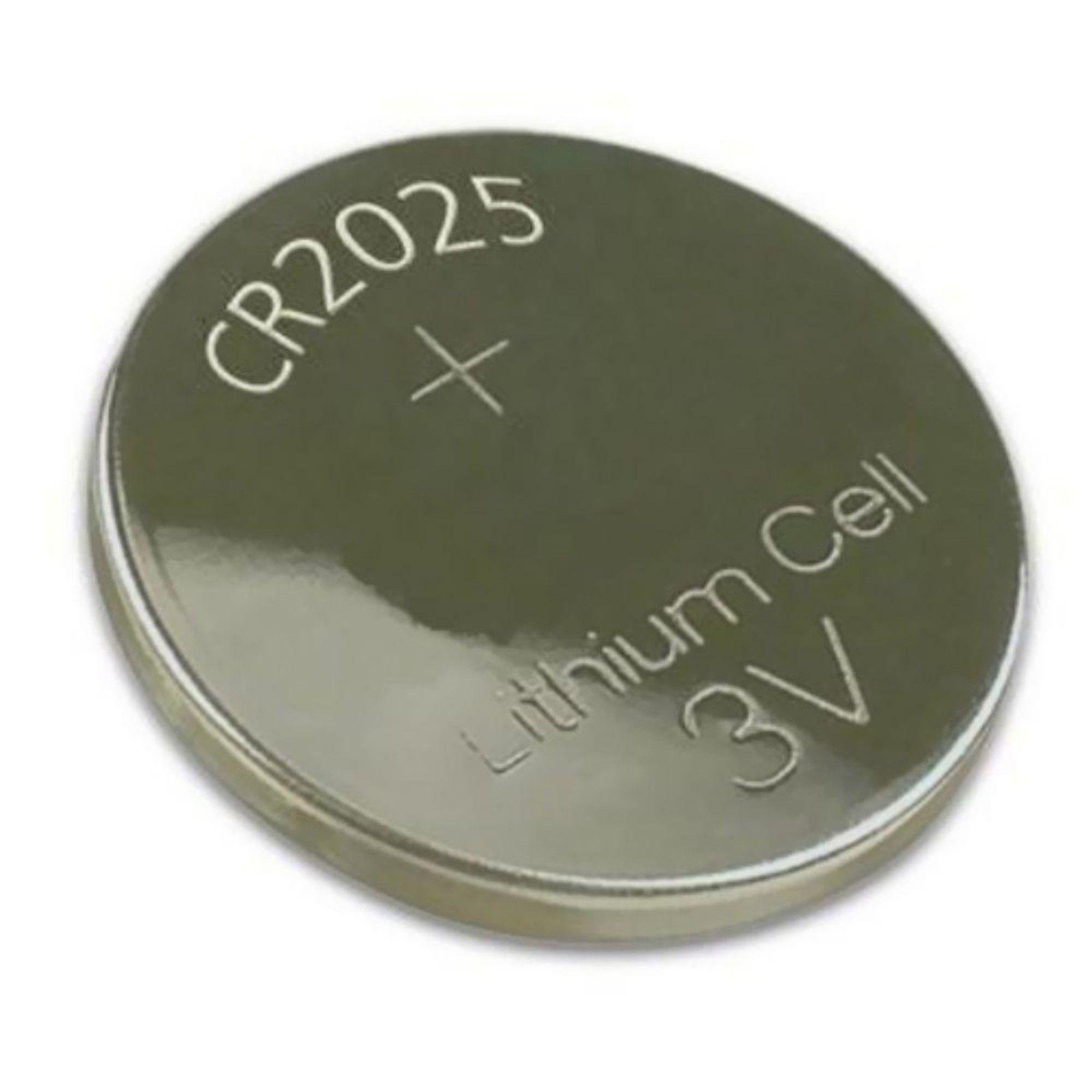 Bateria CR2025 P/ Controle Remoto e Placa Mãe C/ 2 Unidades
