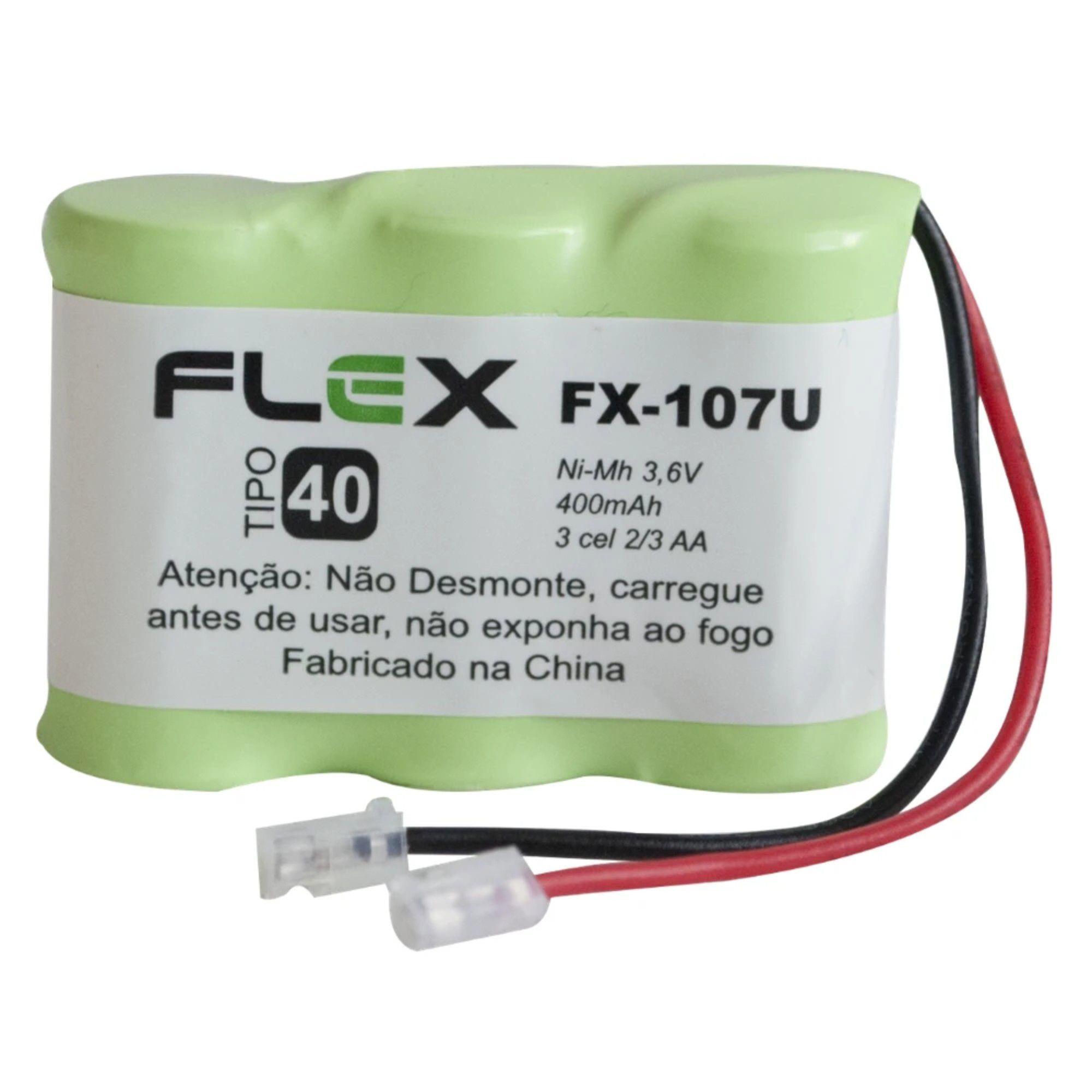 Bateria Telefone Sem Fio Ni-Cd 3.6v 400mah Fx-107u