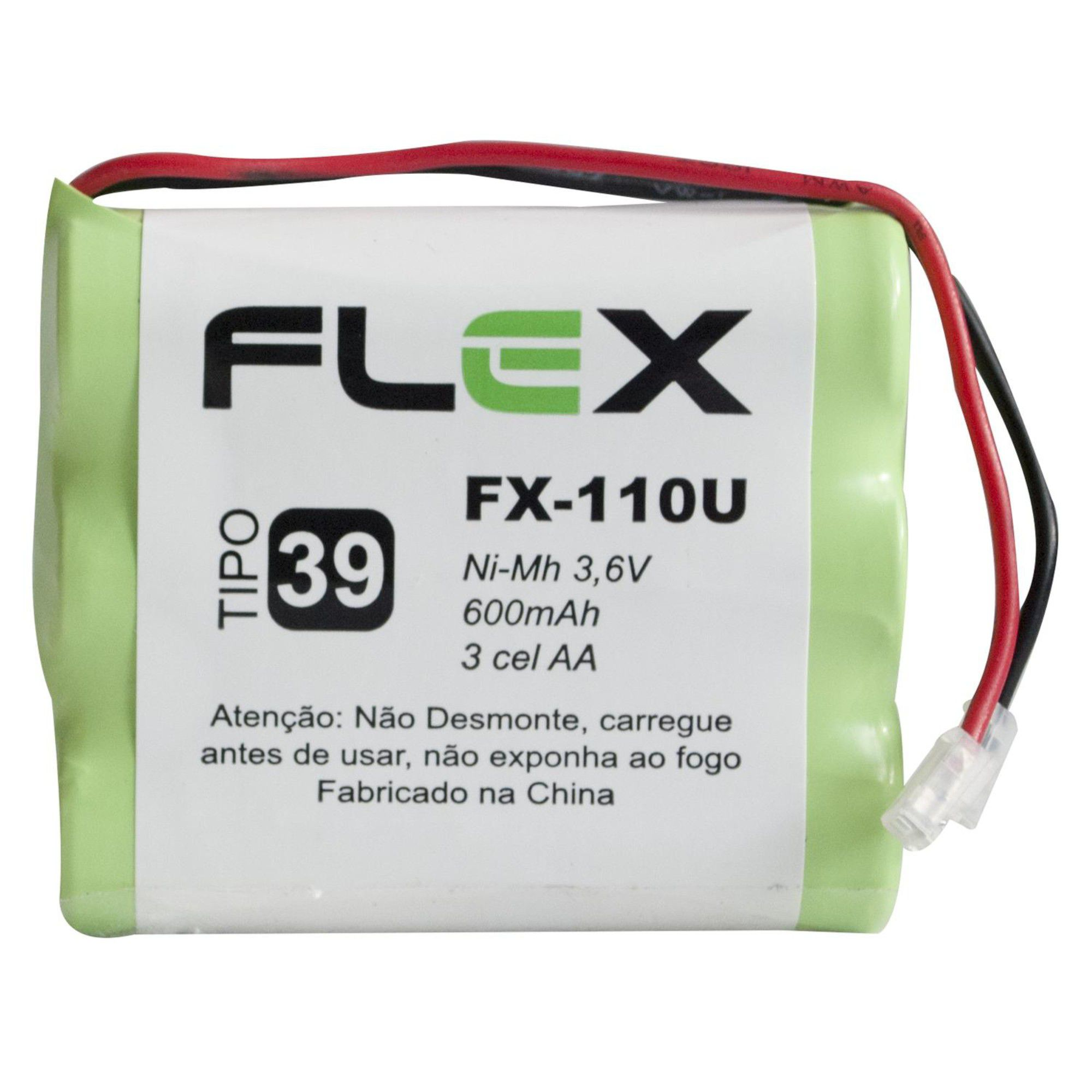 Bateria Telefone Sem Fio Ni-Cd 3.6v 600mah Fx-110u