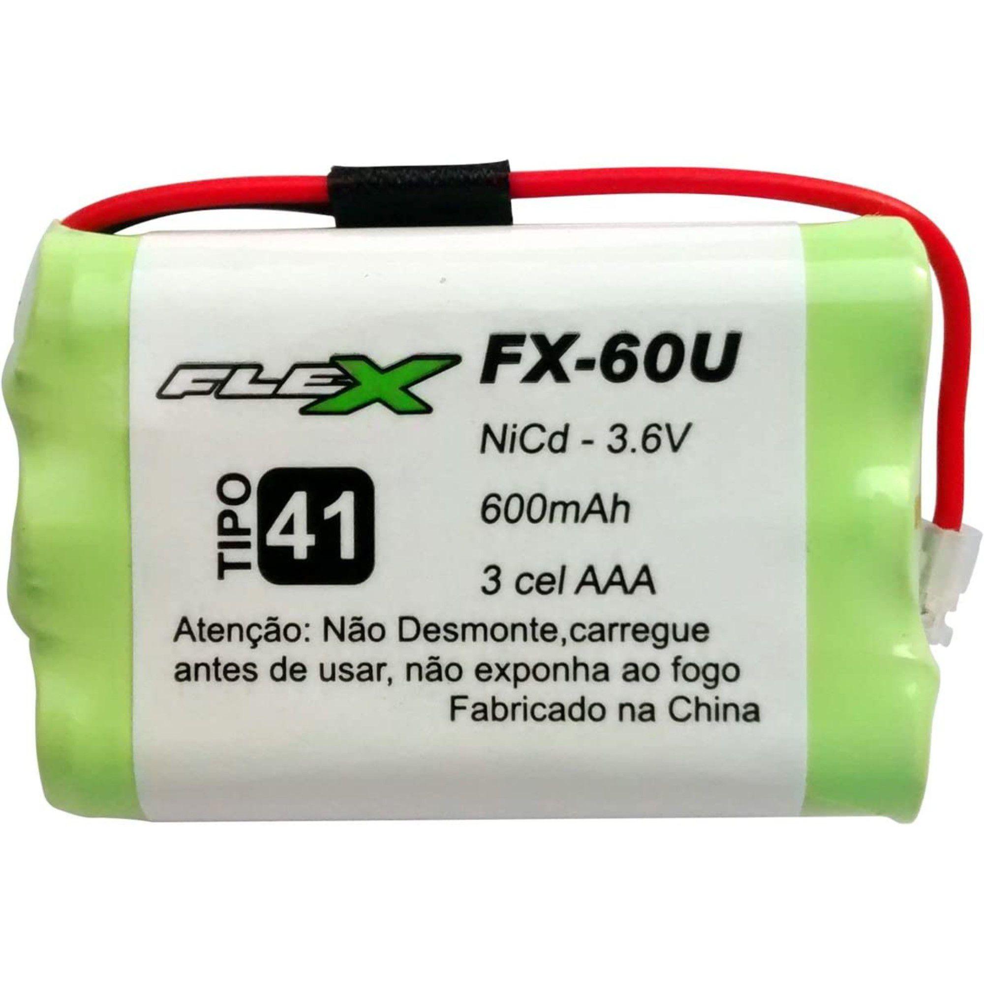 Bateria Telefone Sem Fio Ni-Cd 2.4v 600mah Fx-60u