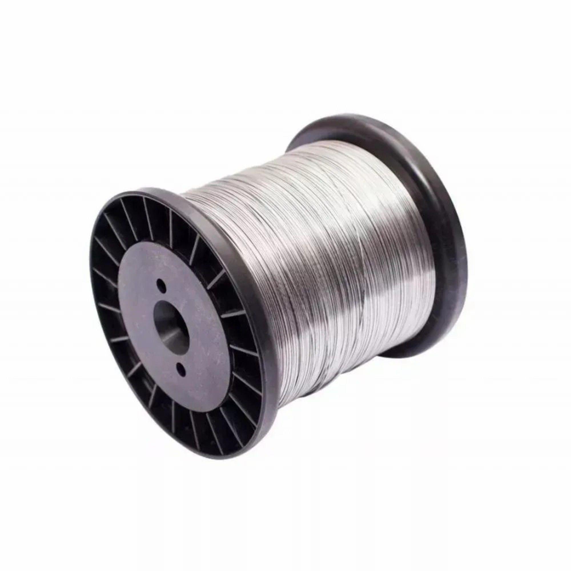 Carretel Arame Aço Inox Cerca Elétrica Fio 0,45mm Bobina