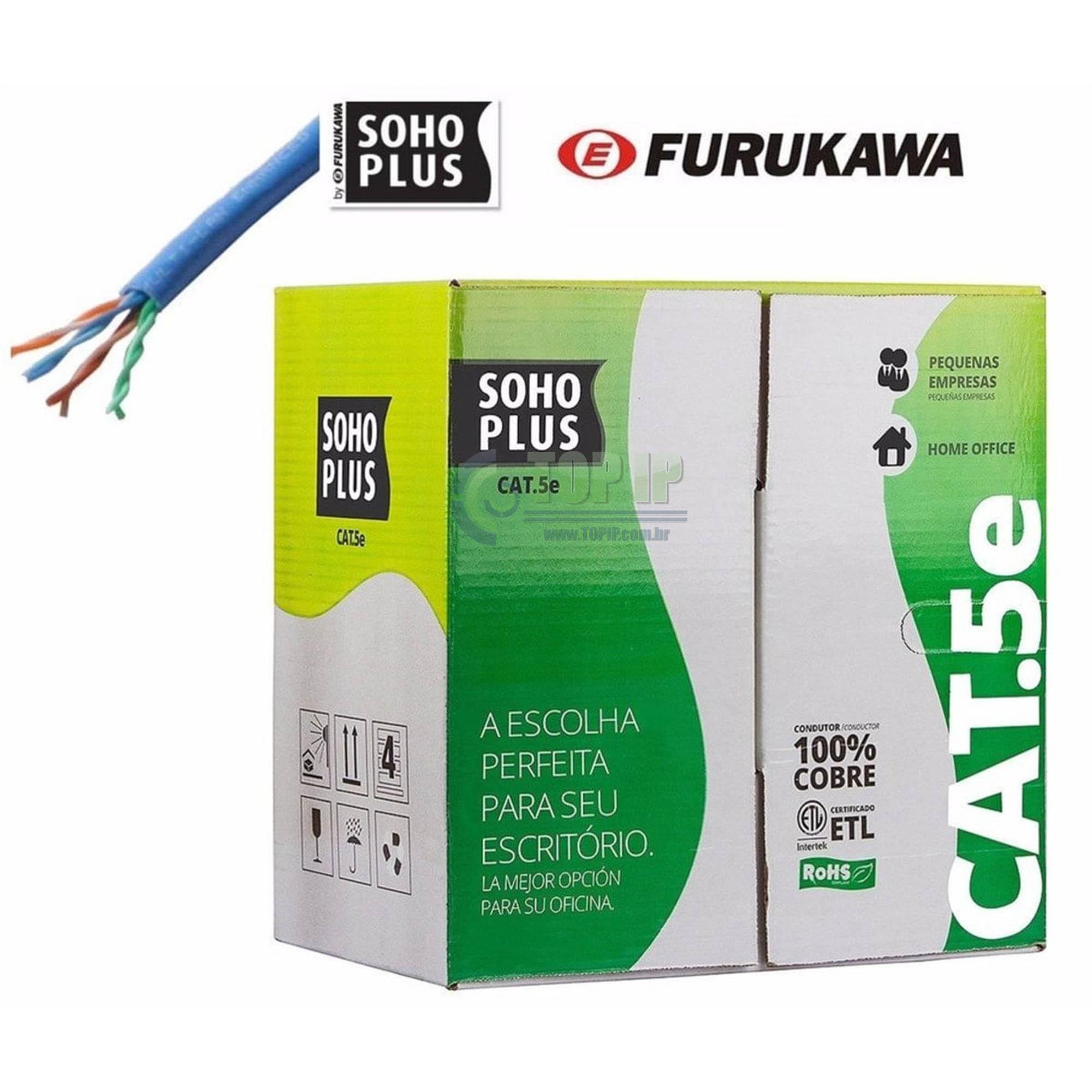 Cabo De Rede Cat5e Soho Plus CMX Azul 305m Furukawa