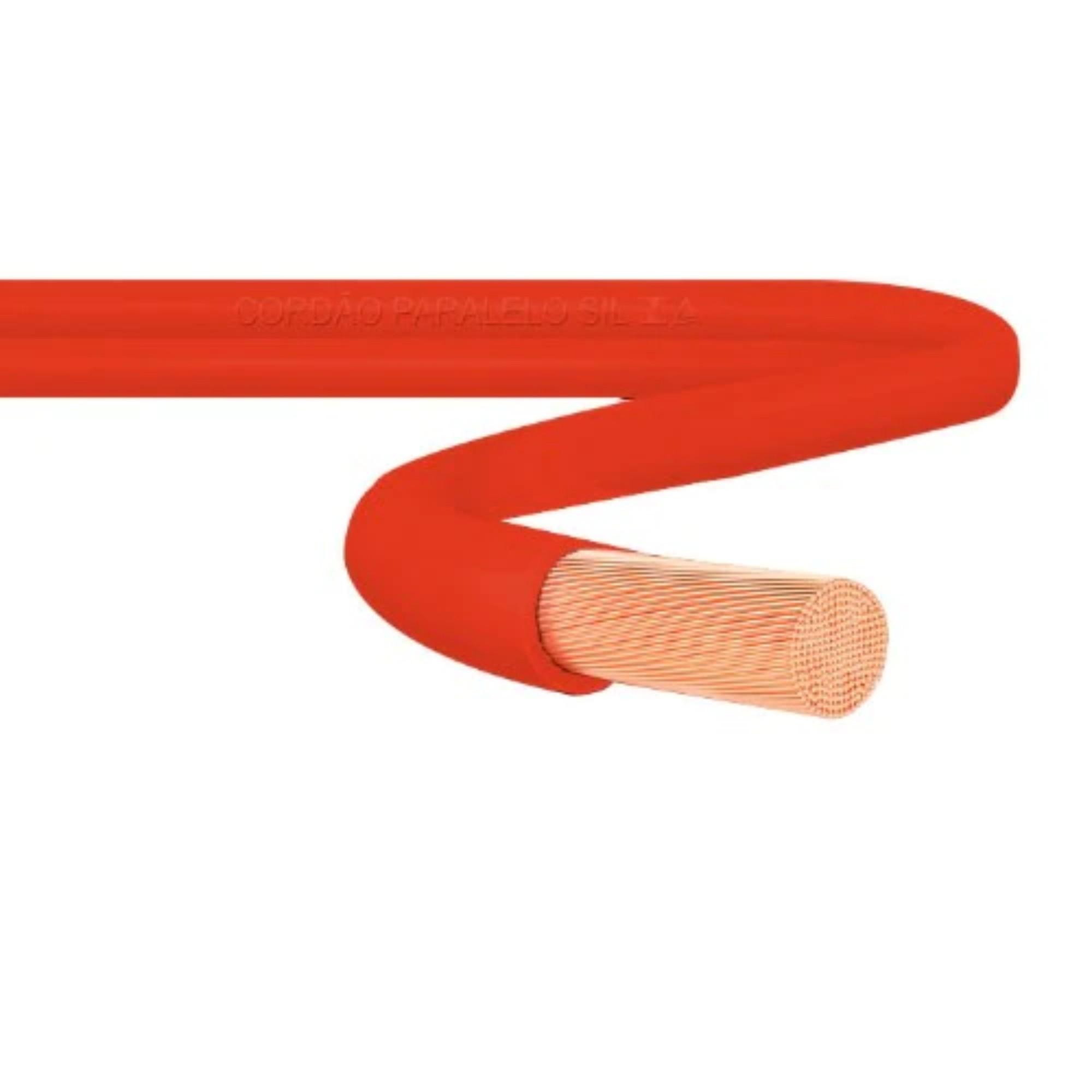 Cabo Flexível 1,5mm 750v Vermelho 10m