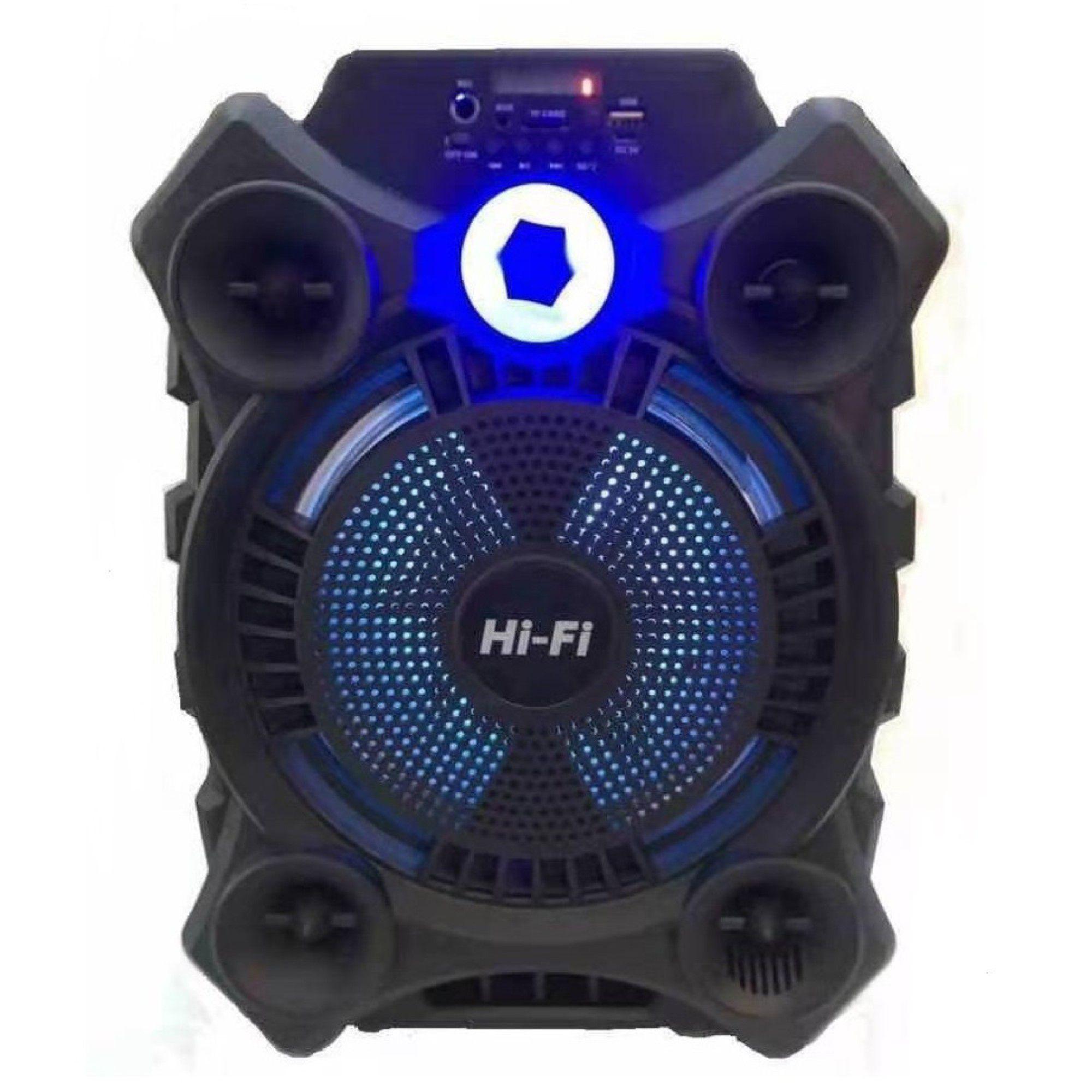 """Caixa De Som Bluetooth C/ Bateria 2.400mah 3 Horas 8"""" Pol"""