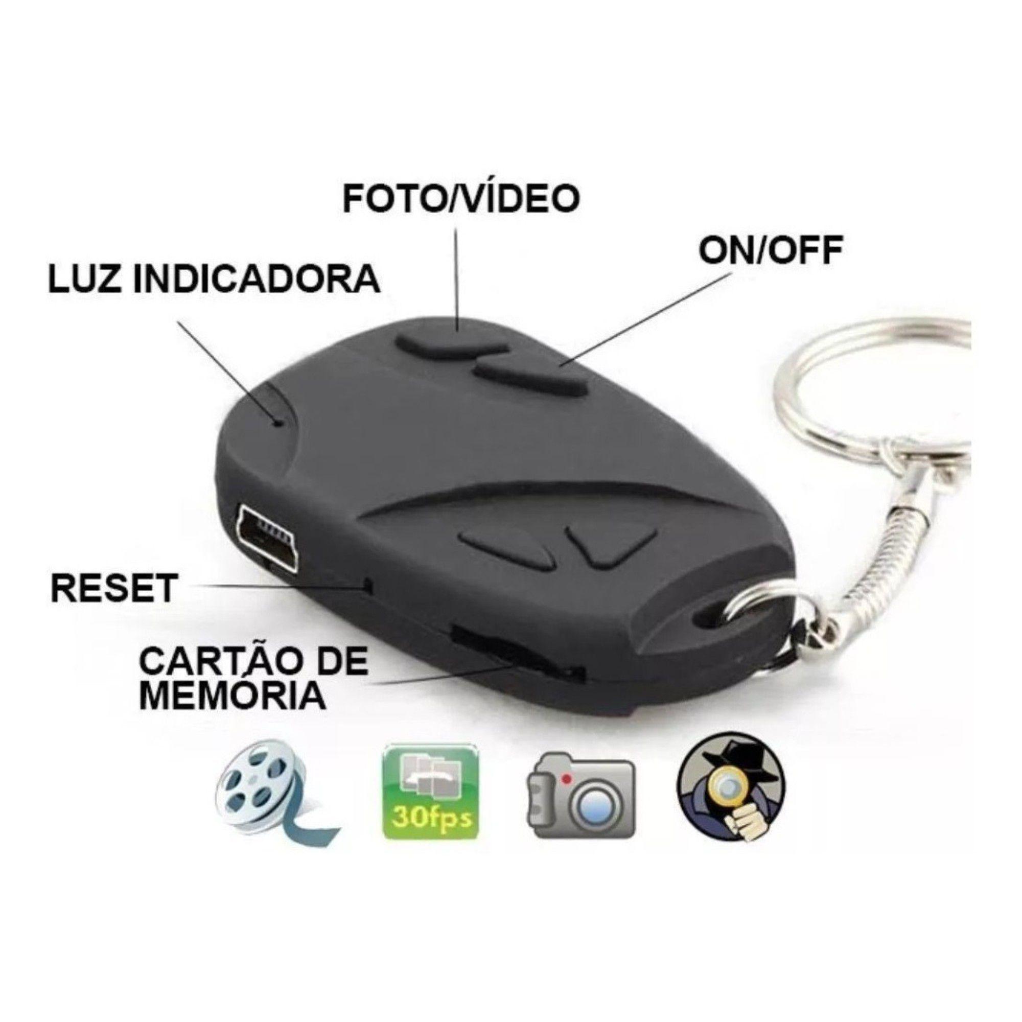 Câmera Chaveiro Espião - Filma e Tira Fotos