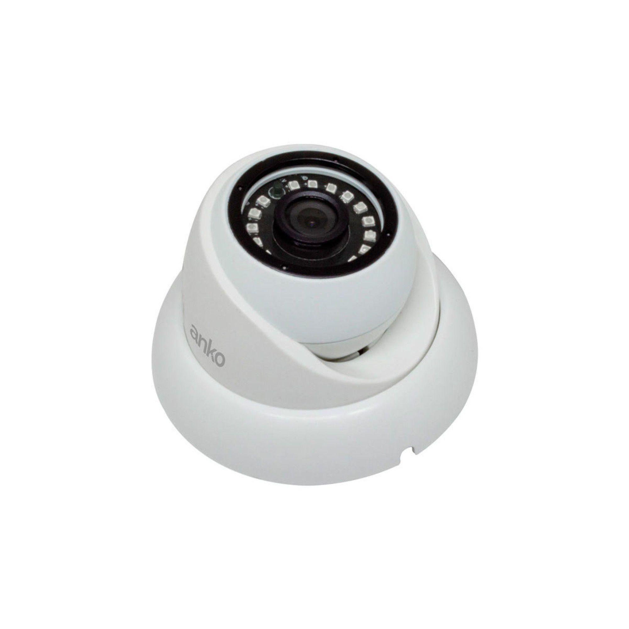 Câmera Infra Dome ANKO Full HD 4 em 1 (AHD, HDCVI, HDTVI e ANALÓGICA) LENTE 2,8MM