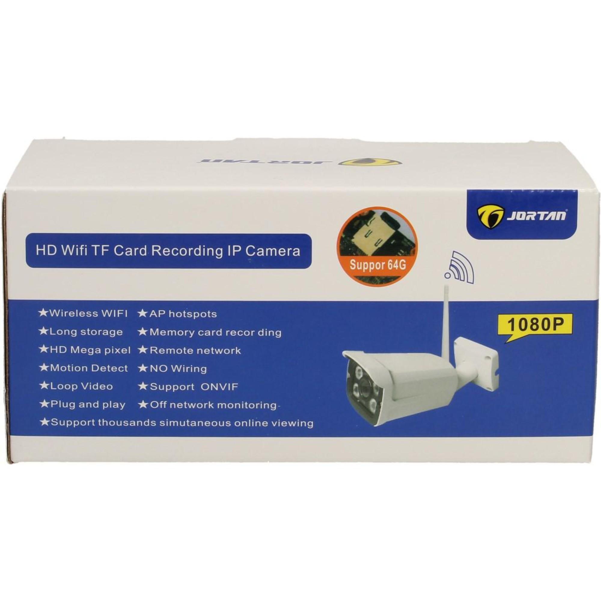 Câmera De Segurança Externa IP HD Jortan Entrada Cartão de Memória