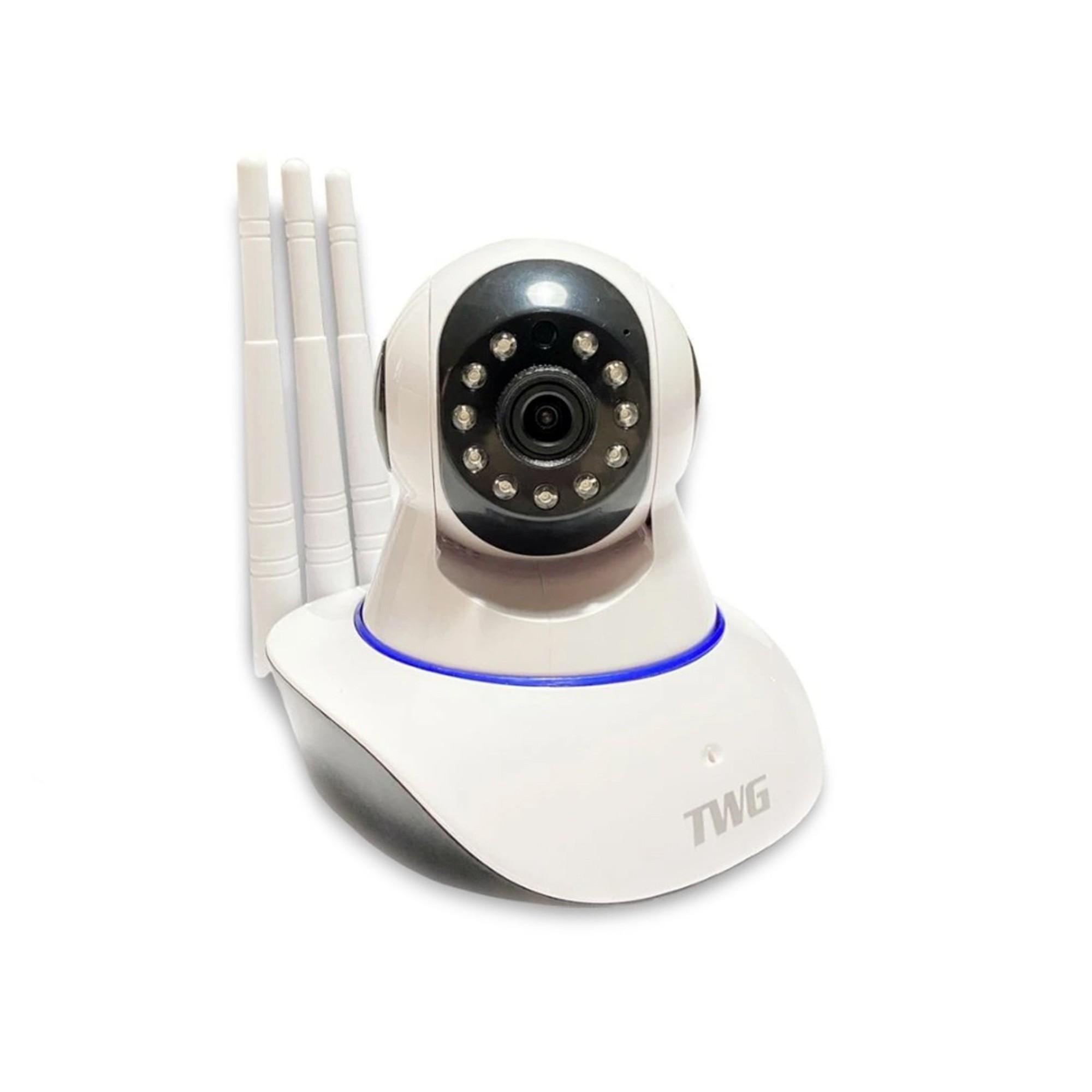 Câmera IP Inteligente Wi-Fi Wireless HD C/ 3 Antenas E Visão Noturna TWG