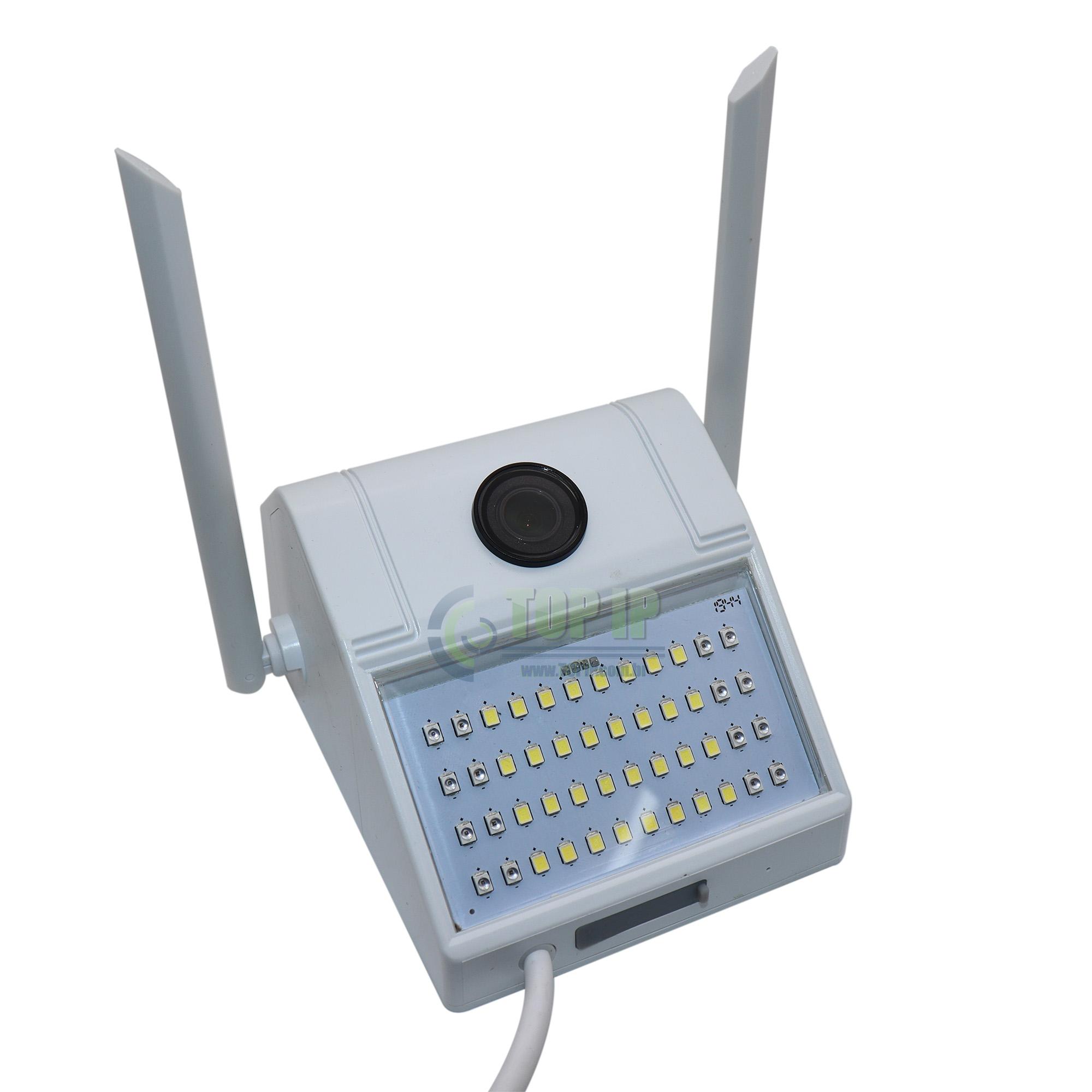Câmera IP Wi-fi Refletor Luminária Externa A Prova D'Agua