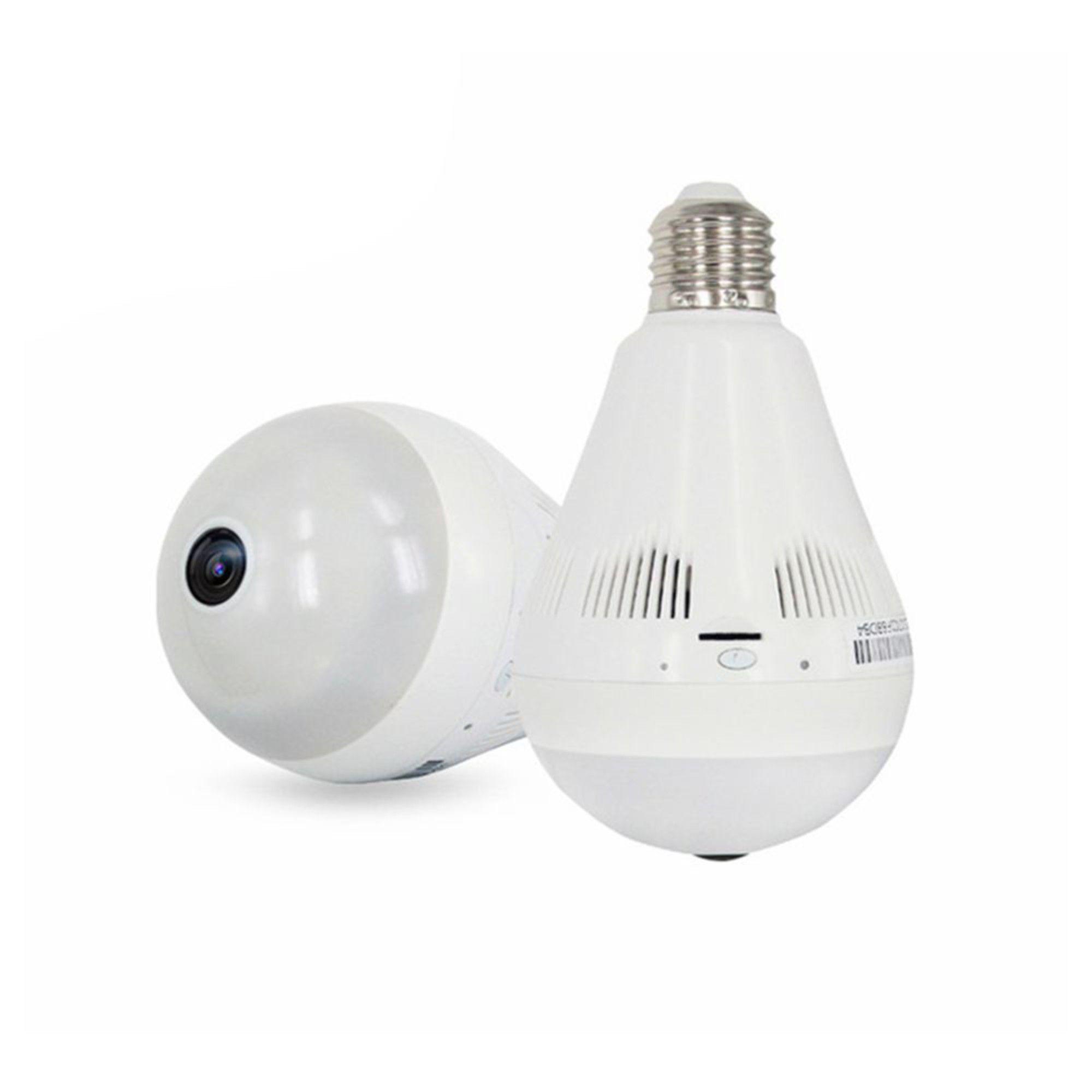 Câmera Lâmpada WI-Fi IP Panorâmica 360° Fisheye