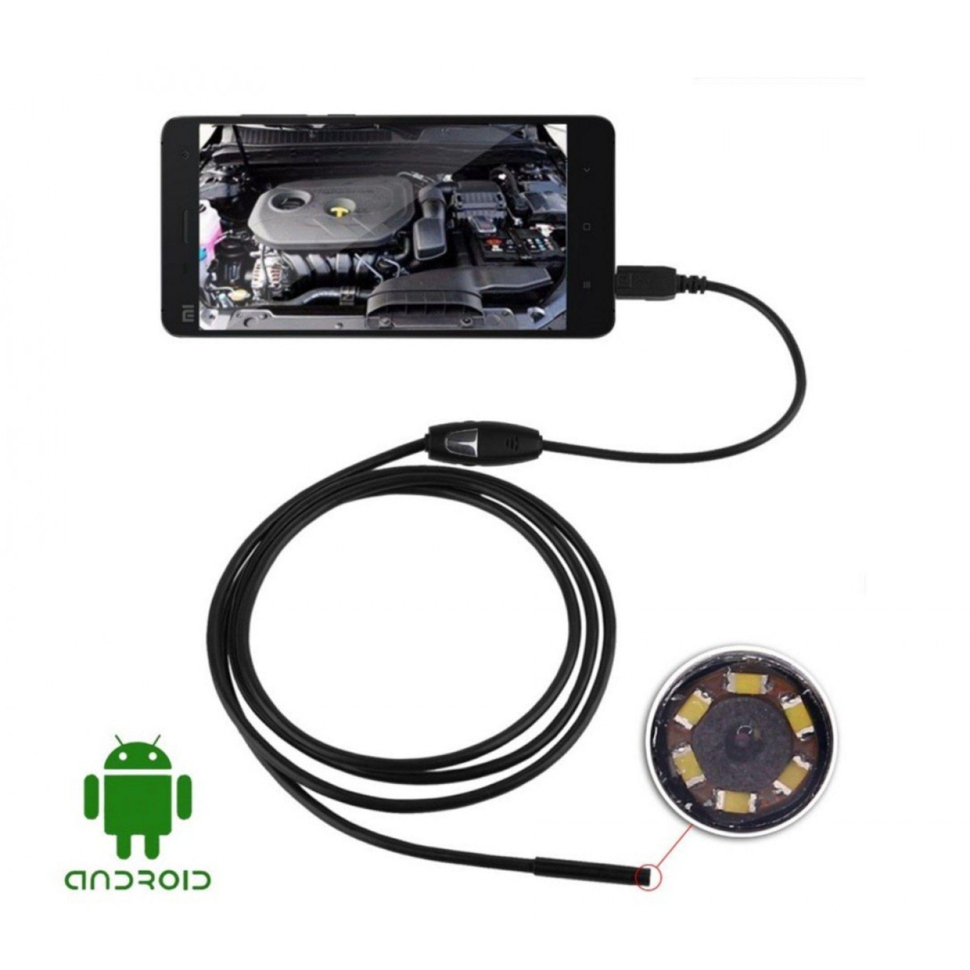 Câmera Sonda Endoscópica P/ Inspeção USB C/ 5 Metros