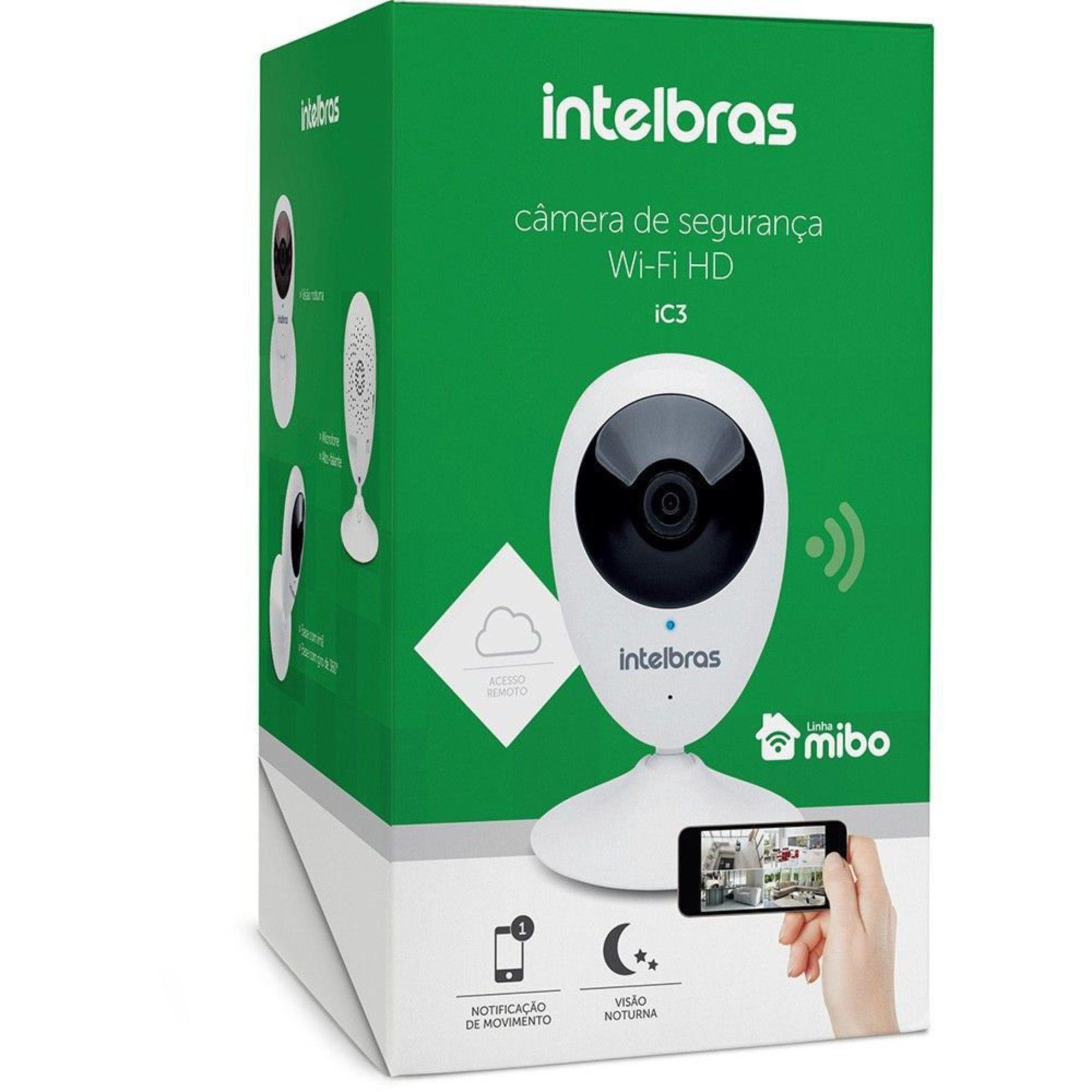 Câmera Wifi HD Intelbras Ic3