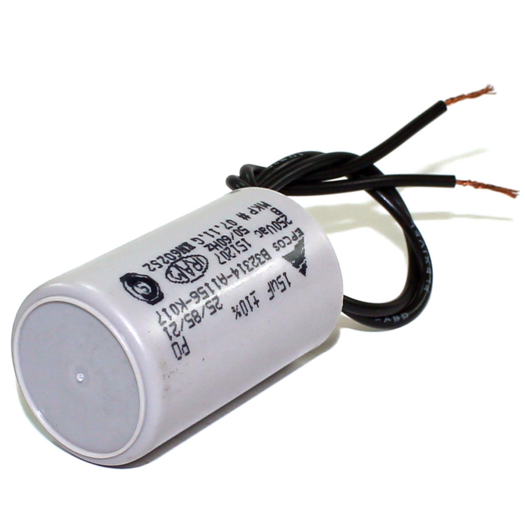 Capacitor P/ Motor Portão Eletrônico 15uF 250v
