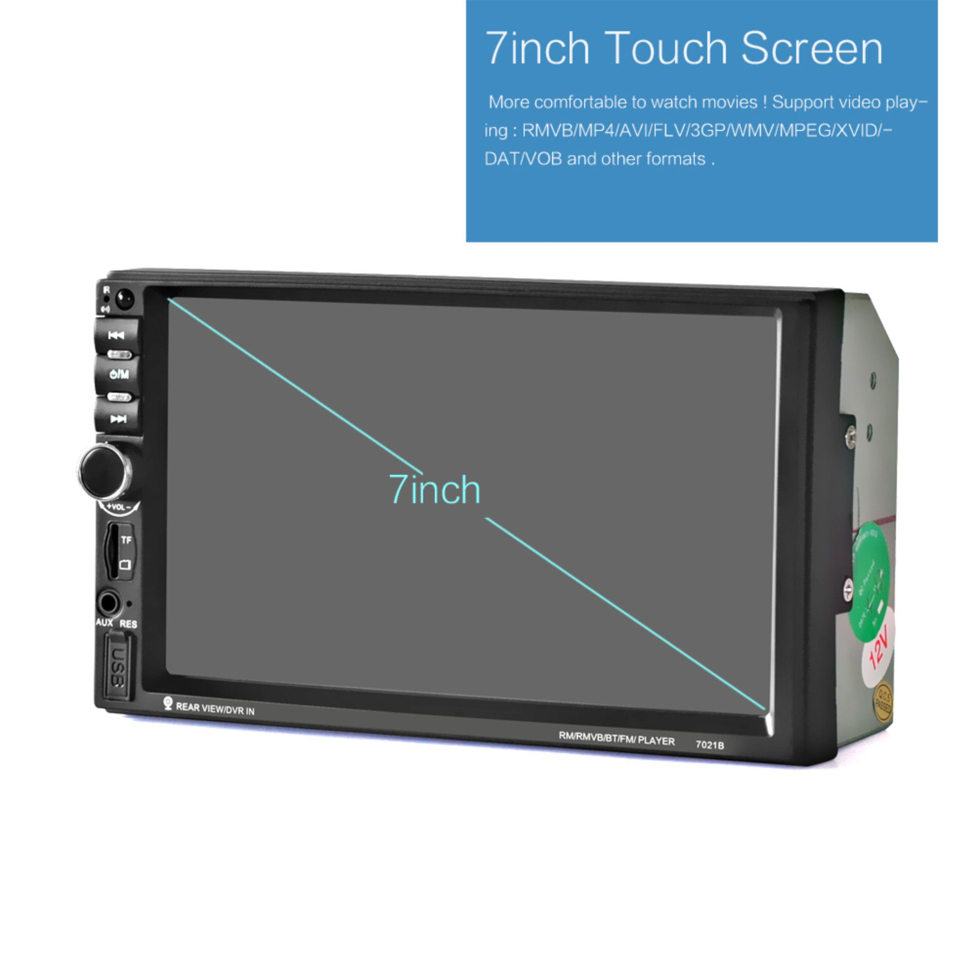 Central Multimídia 2 Din 7 Pol TouchScreen C/ Espelhamento MP5-7021B