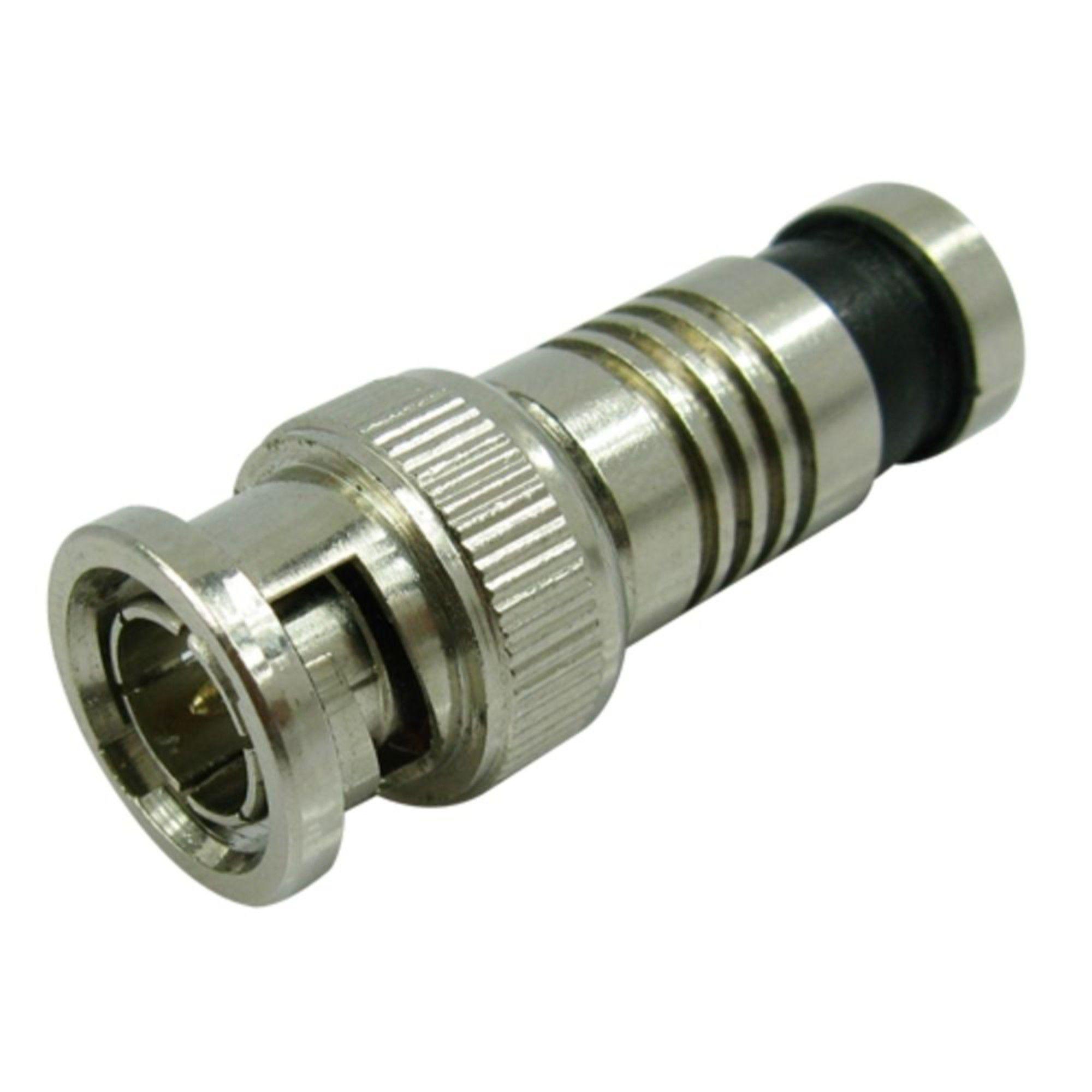 Conector BNC De Compressão RG6 - 5 Unidades