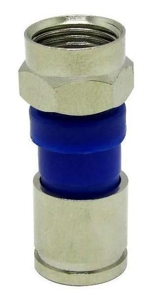 Conector BNC De Compressão RG6 C/ 5 Unidades