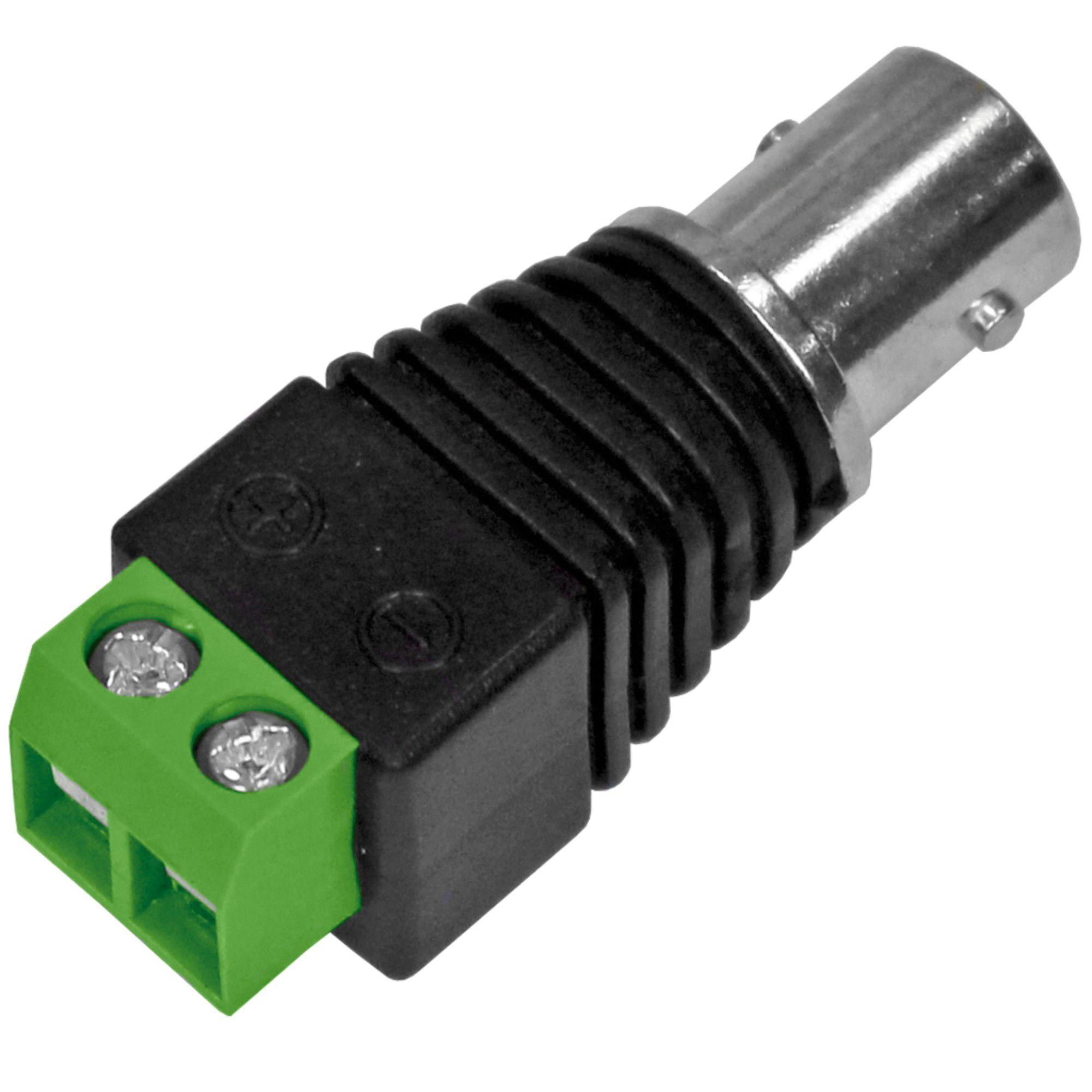 Conector BNC Fêmea C/ Borne C/ 5 Unidades