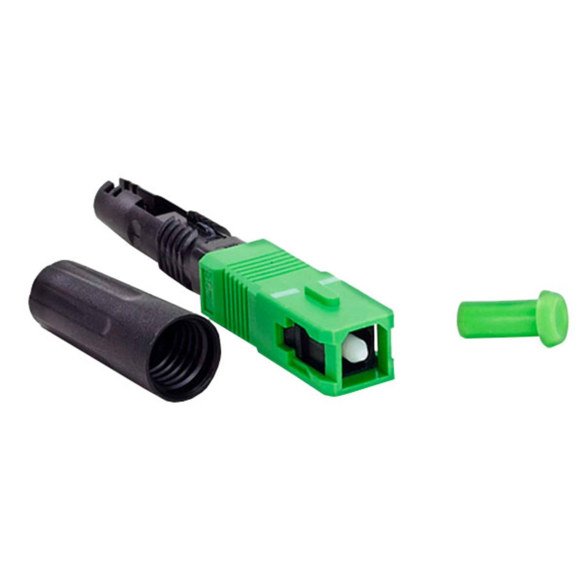 Conector Óptico De Rosca Sc Apc 2FLEX C/ 2 Unidades