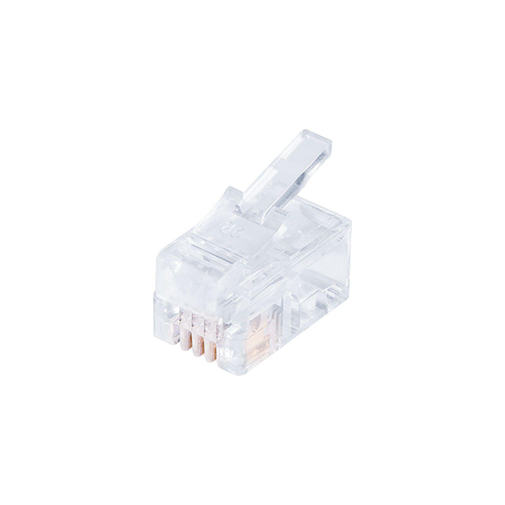 Conector RJ11 6x4 C/ 20 unidades