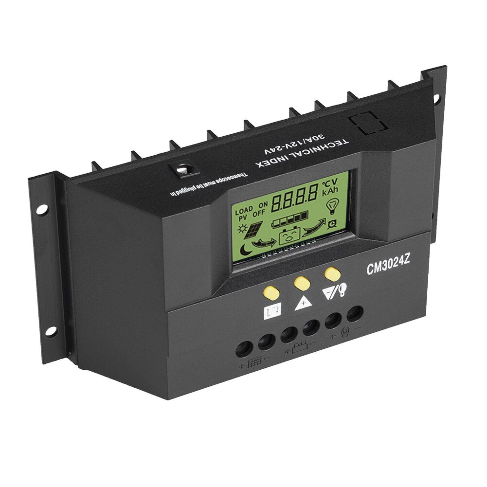 Controlador De Carga Painel Solar 30a 12/24v
