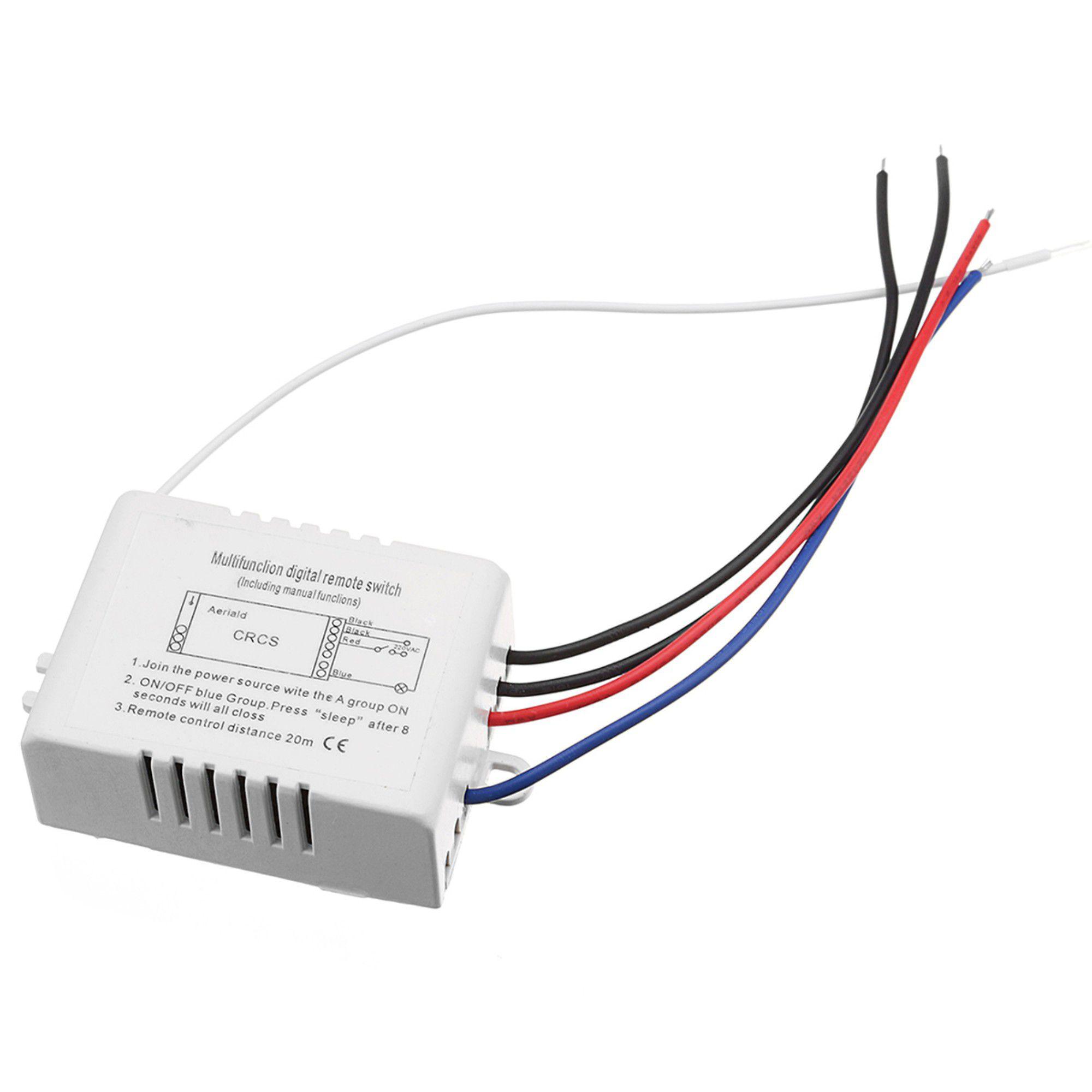 Controle Remoto 3 Canais C/ Transmissor E Receptor 127v