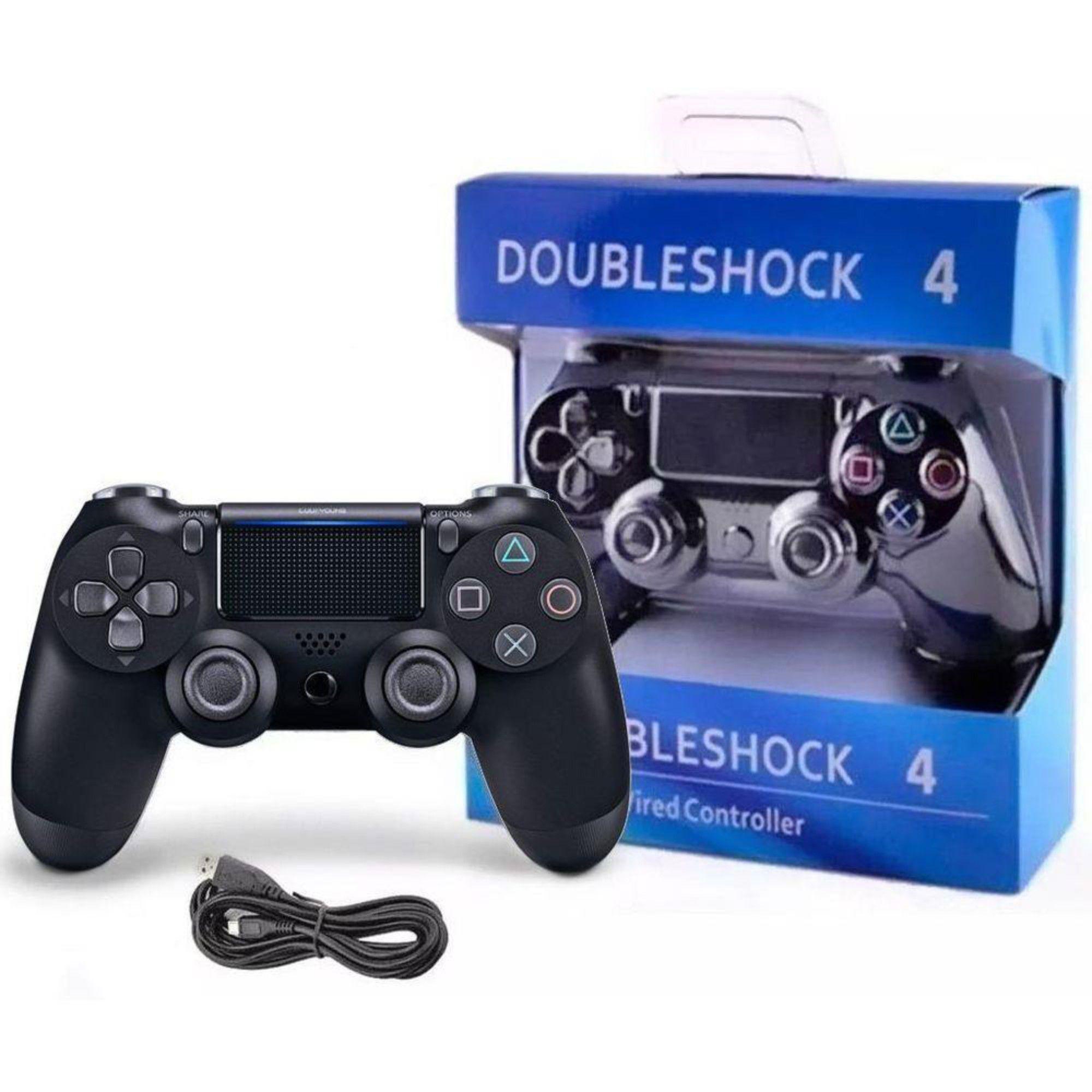 Controle Para Playstation 4 Dualshock Com Fio C/ Analógico