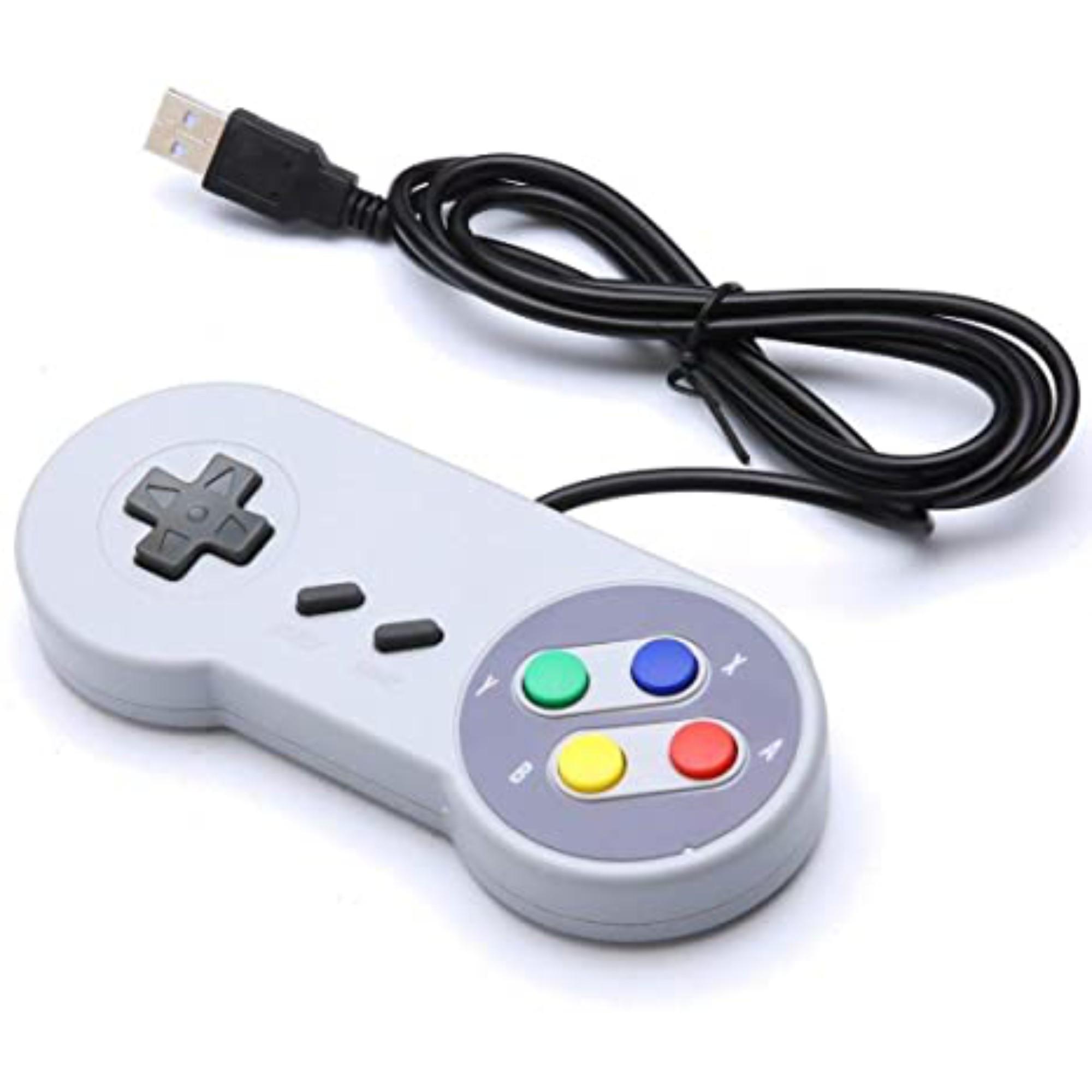 Controle Super Nintendo Retro SNES Joystick USB