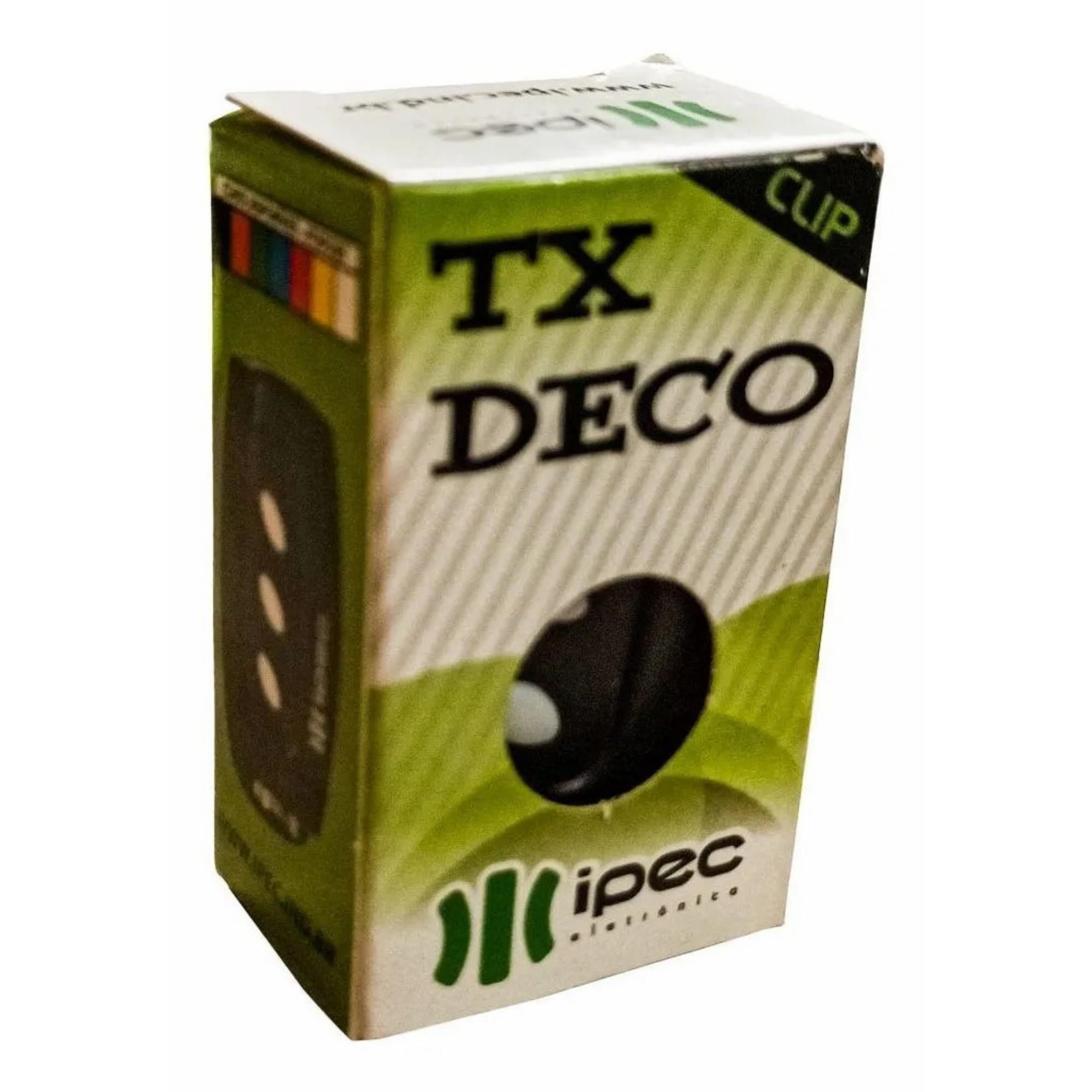 Controle Remoto Portão Alarme 433mhz TX DECO Ipec